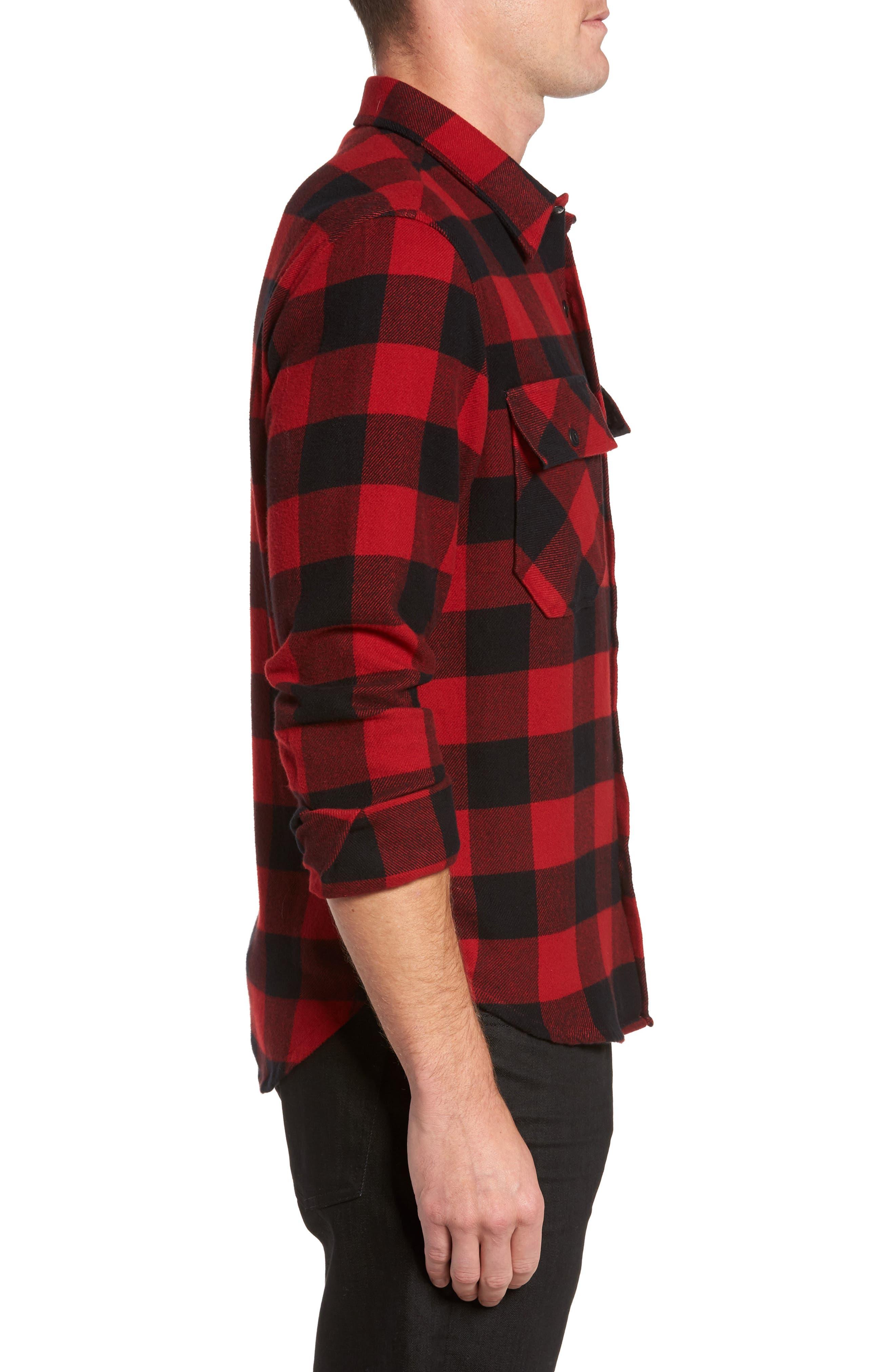 Buffalo Check Shirt Jacket,                             Alternate thumbnail 3, color,                             Buffalo Plaid