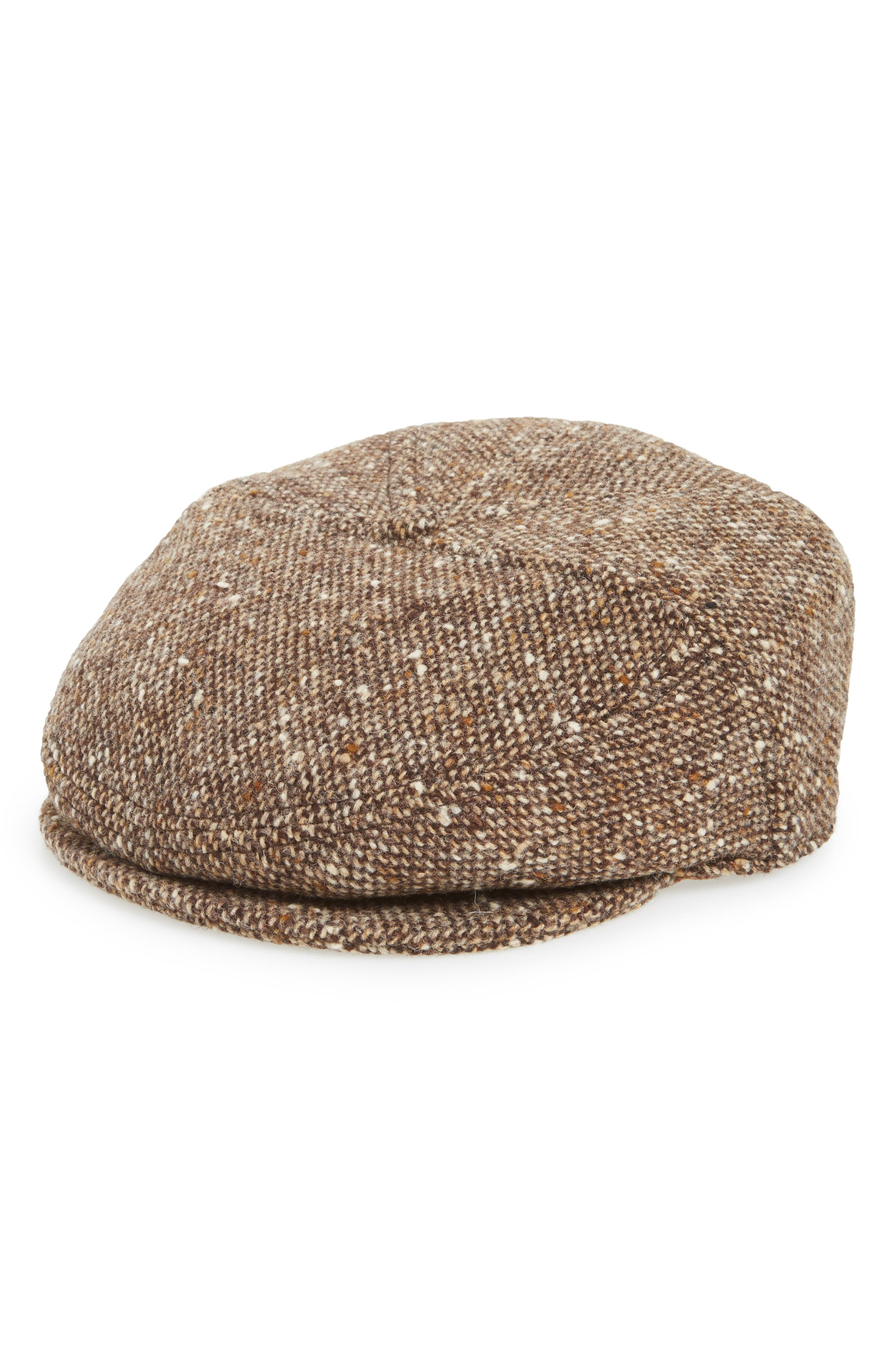 The Journey Wool Driver Cap,                         Main,                         color, Brown