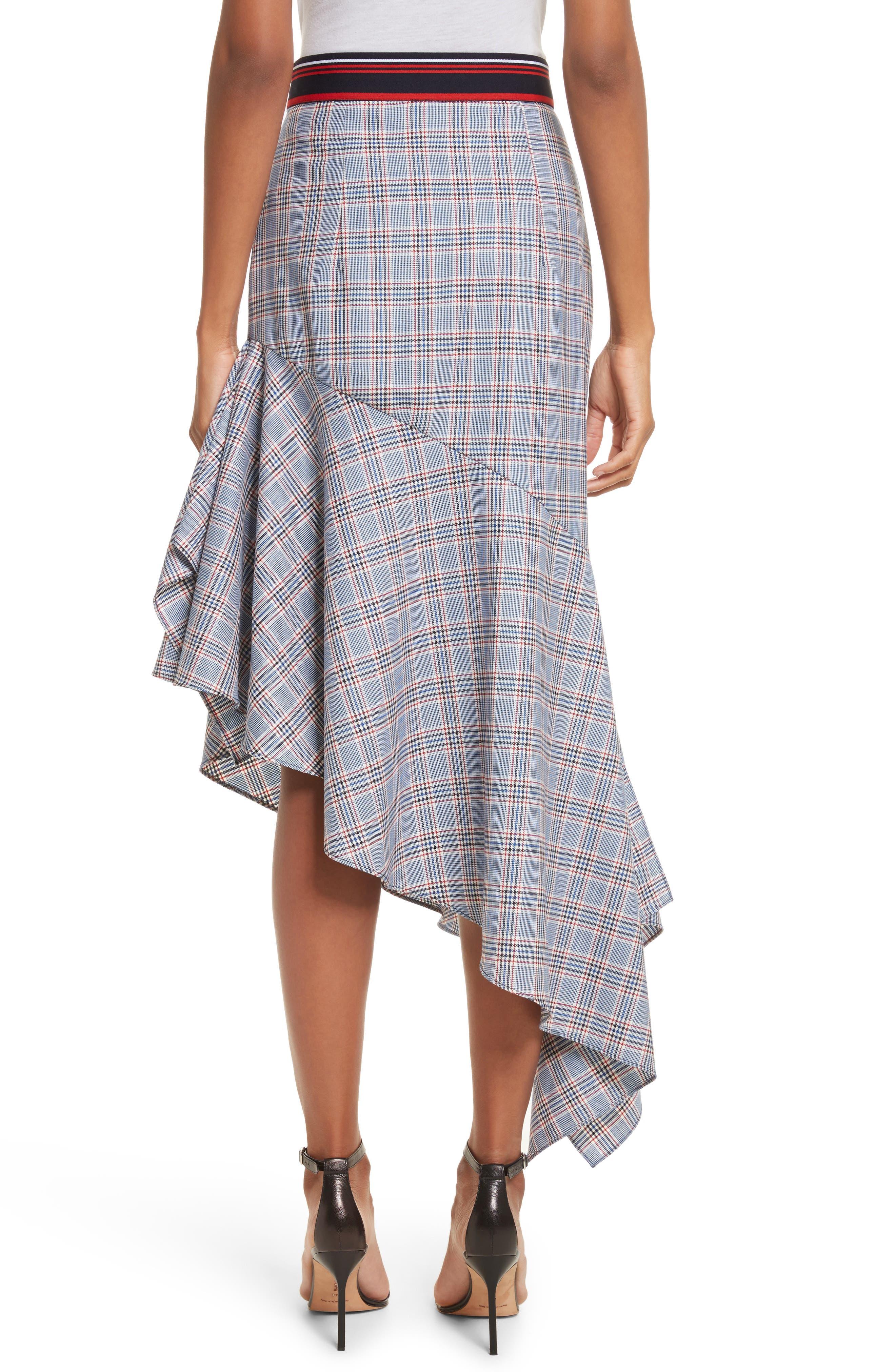 Asymmetrical Ruffle Hem Skirt,                             Alternate thumbnail 2, color,                             Multi