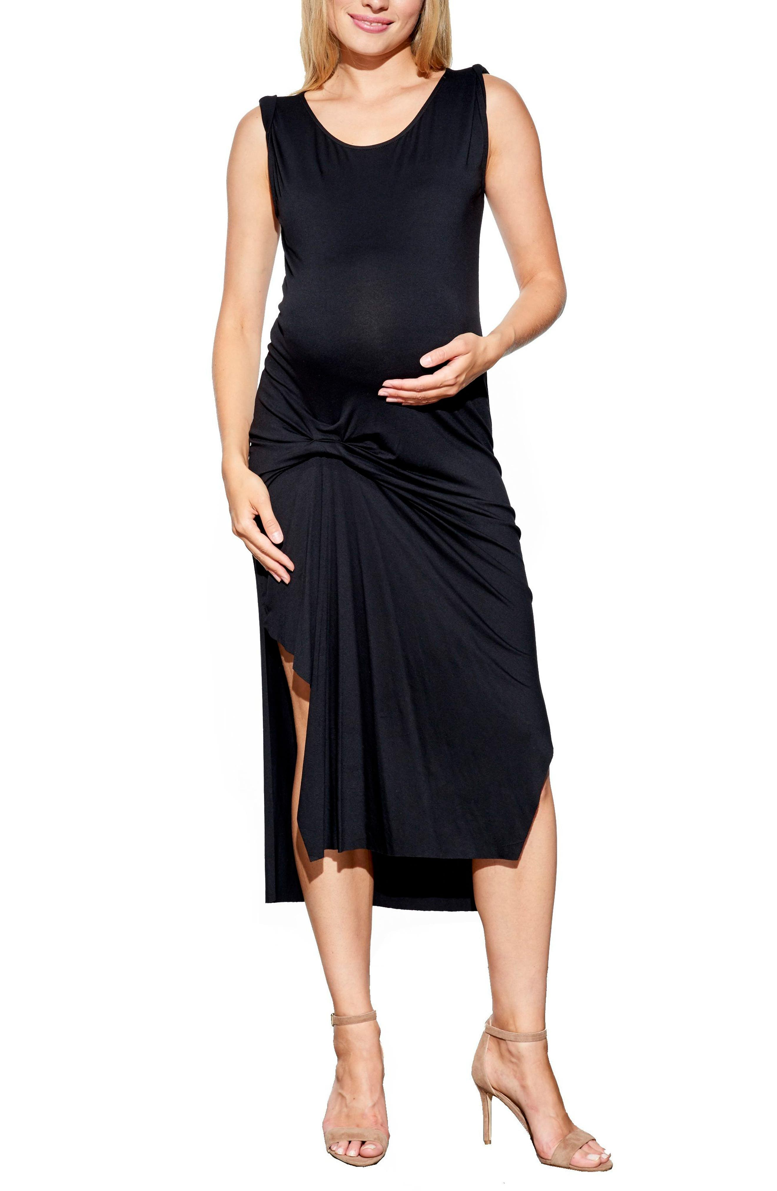 Alternate Image 1 Selected - Maternal America Pleated Maternity Dress
