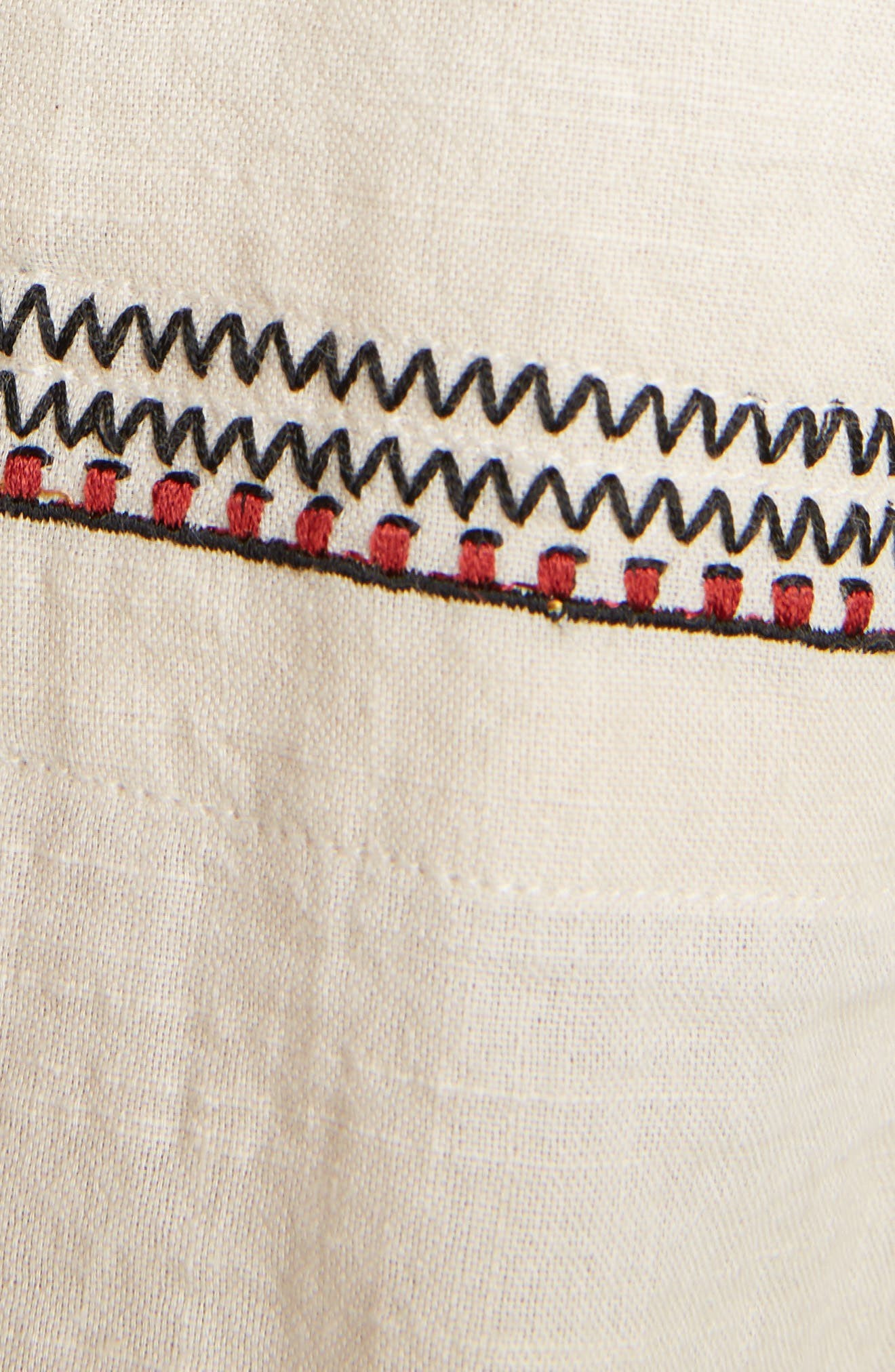 Isabel Marant Étoile Belissa Embroidered Shift Dress,                             Alternate thumbnail 5, color,                             Beige
