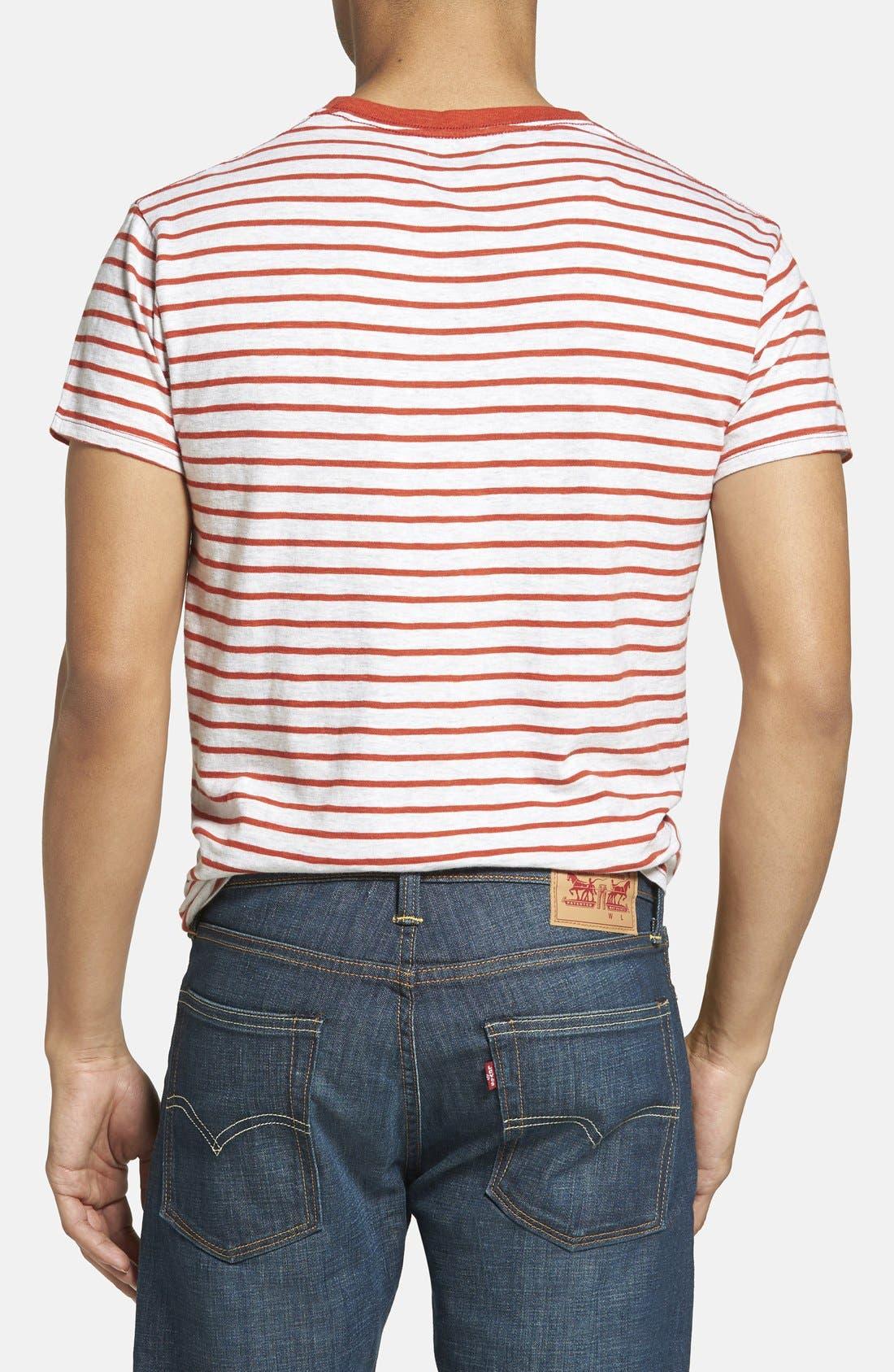 Alternate Image 2  - Grayers Breton Stripe Crewneck T-Shirt