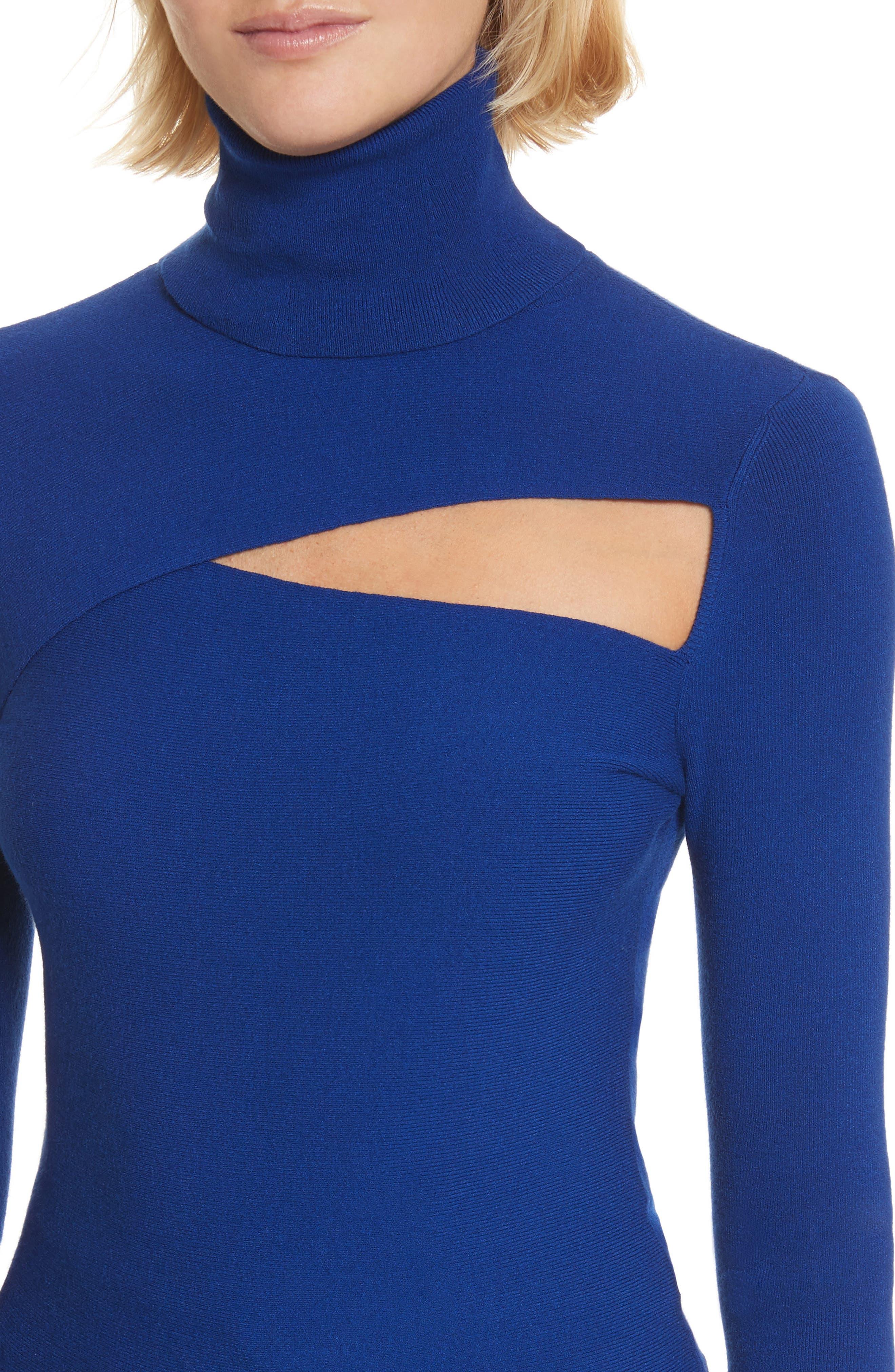 Alternate Image 4  - A.L.C. Camden Cutout Turtleneck Sweater