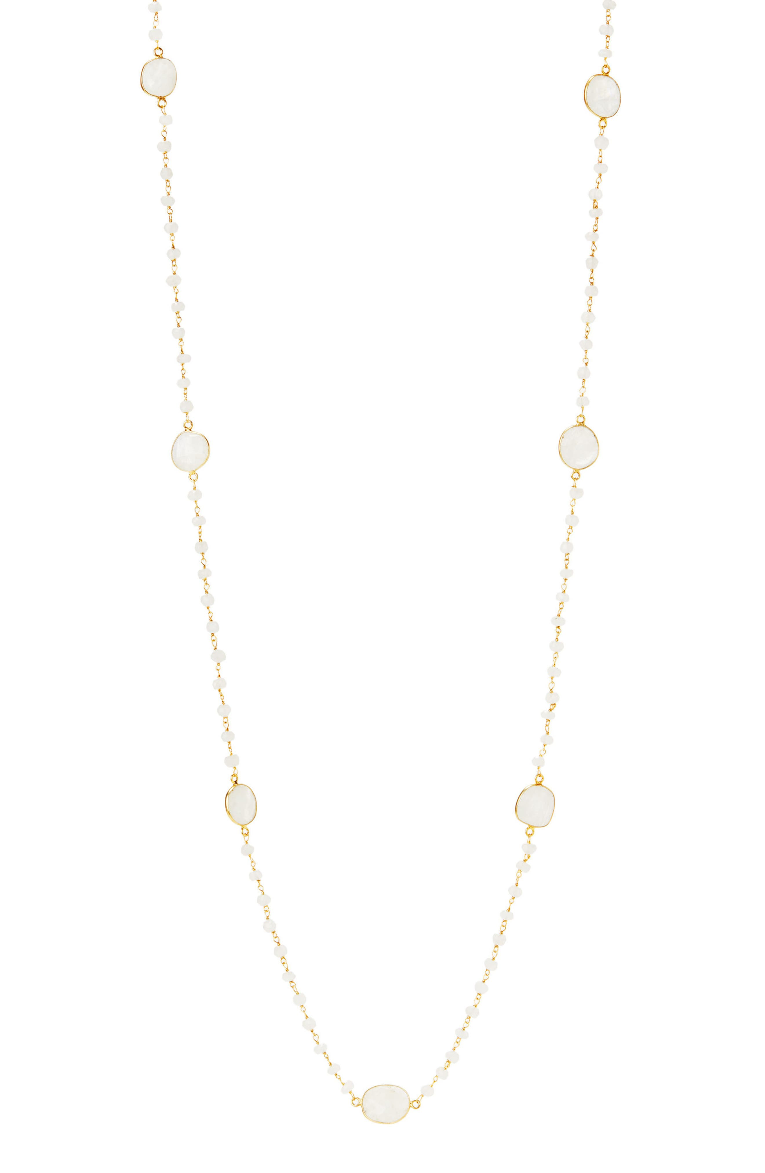Neivs Station Necklace,                             Main thumbnail 1, color,                             Moonstone