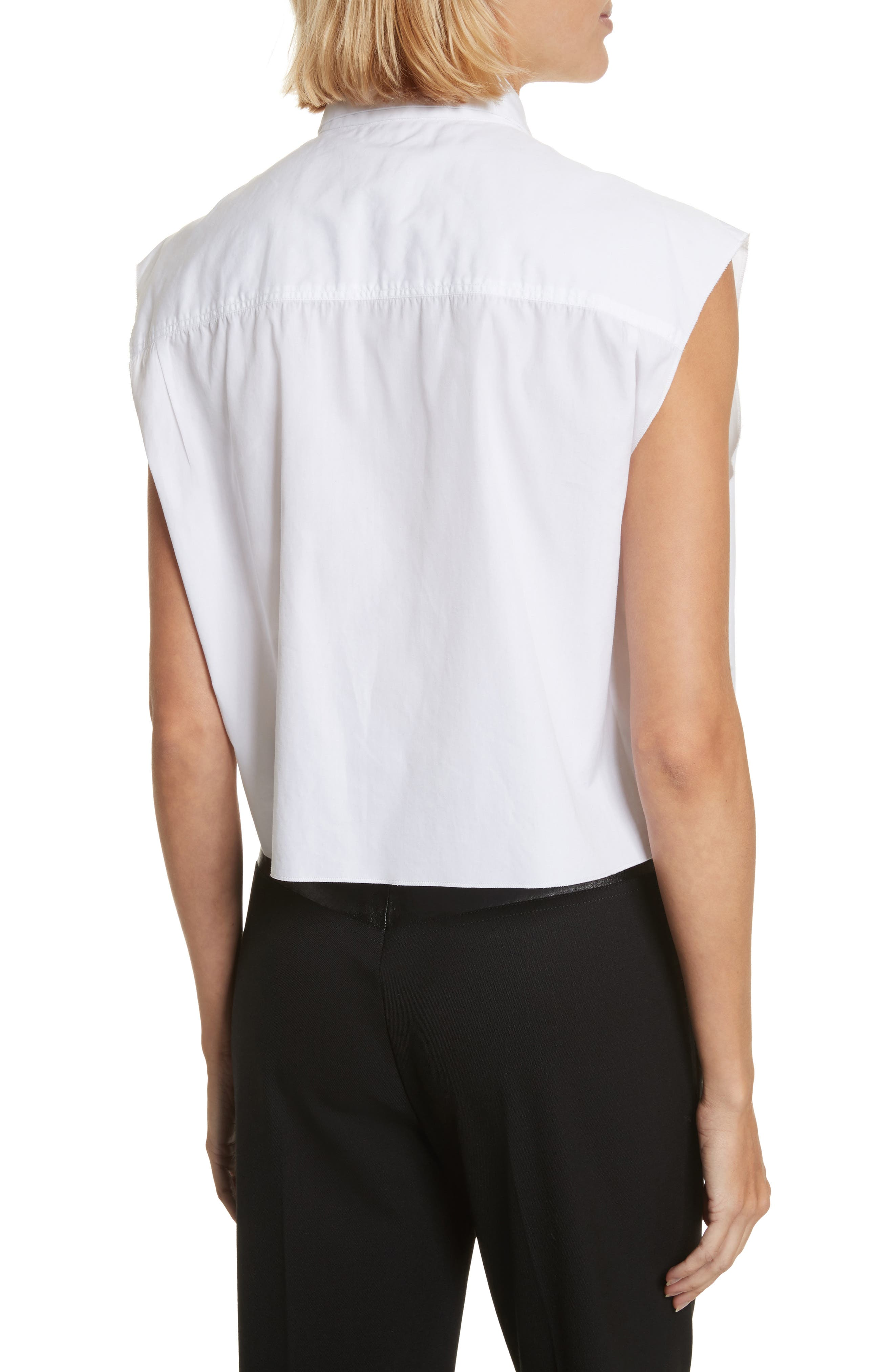 Alternate Image 2  - Helmut Lang Safety Pin Cotton Poplin Crop Top