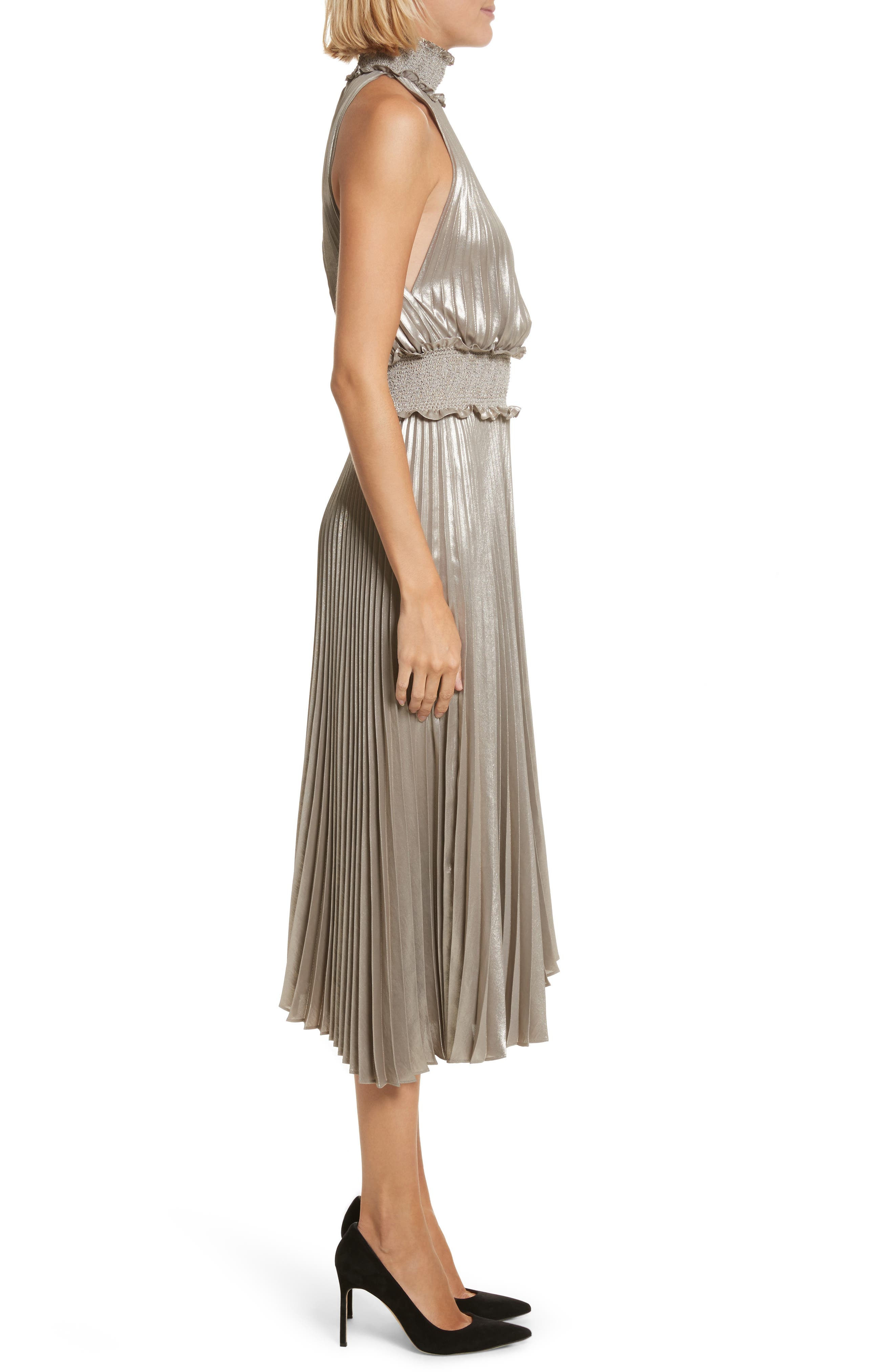 Alternate Image 4  - A.L.C. Kravitz Pleated Midi Dress
