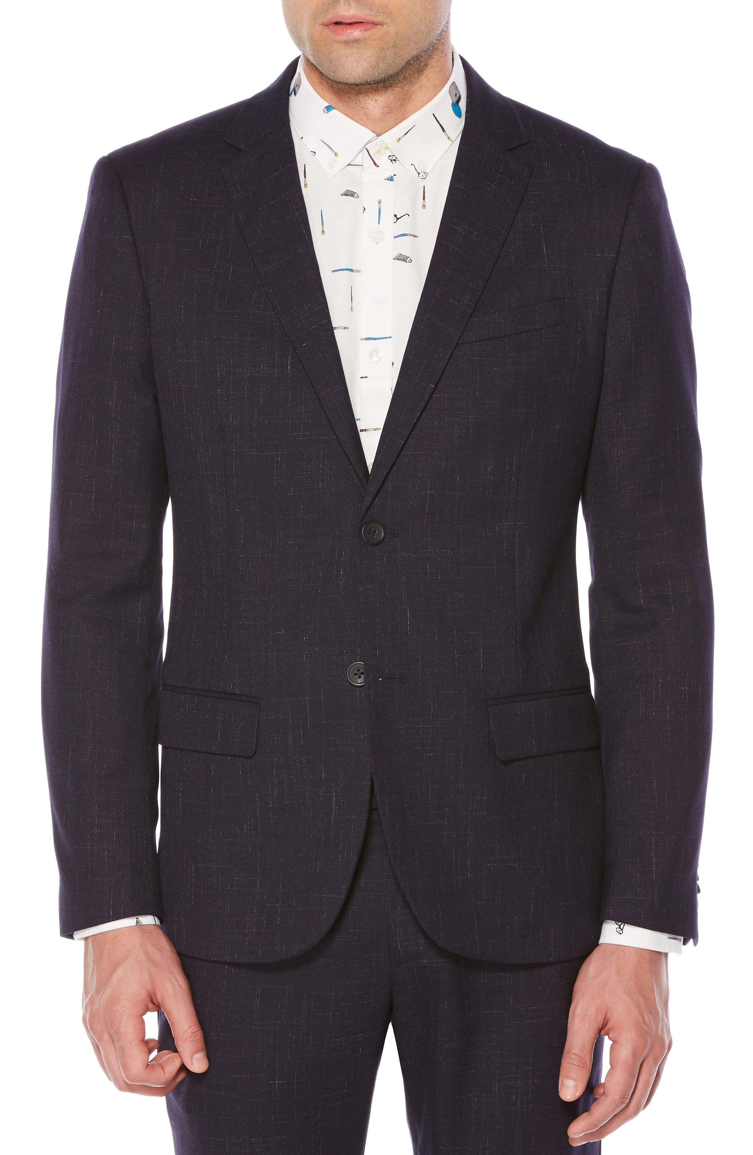 Crosshatch Sport Coat,                         Main,                         color, Dark Sapphire