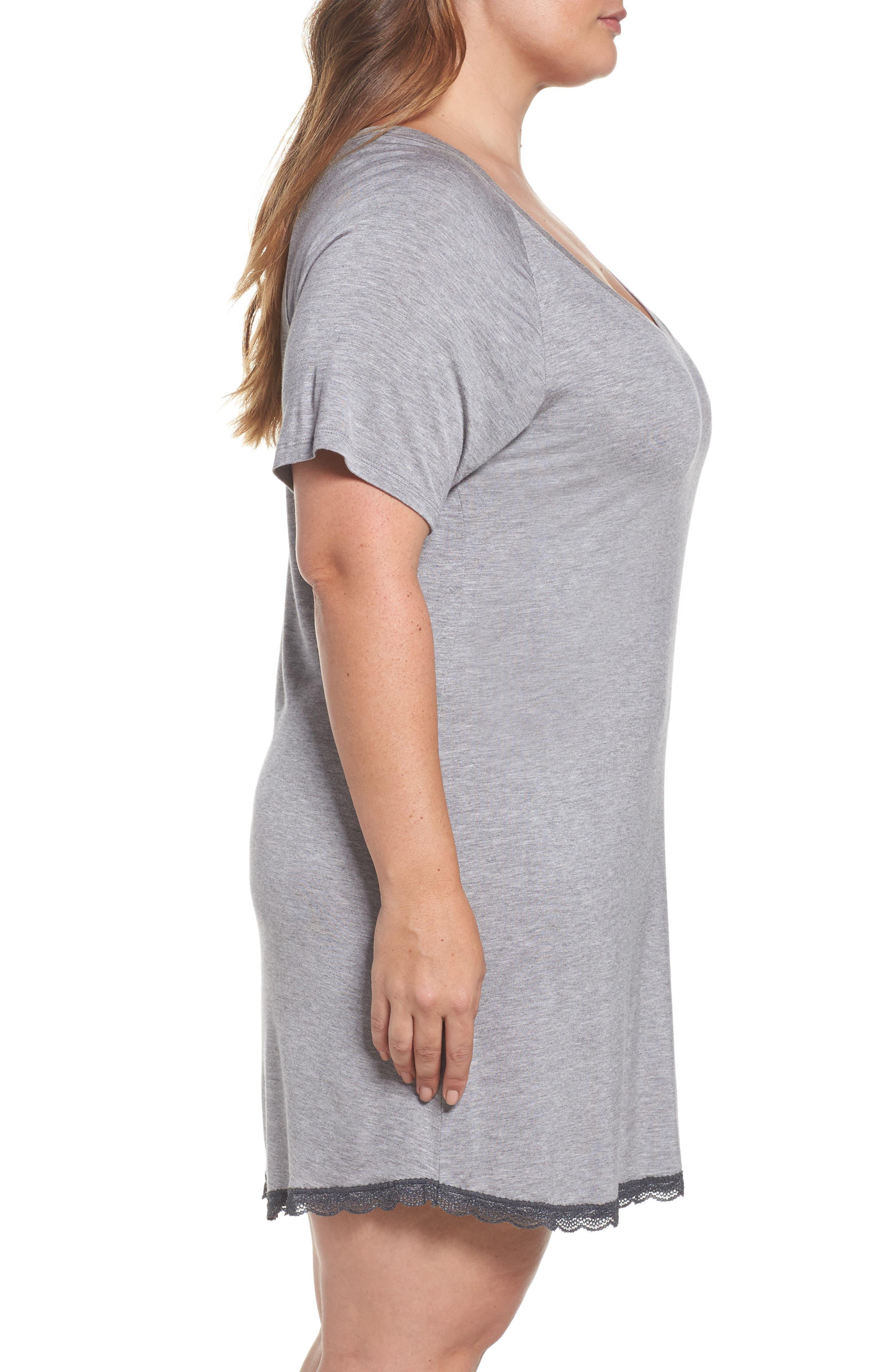 Alternate Image 3  - Honeydew Lace Trim Sleep Shirt (Plus Size) (2 for $60)
