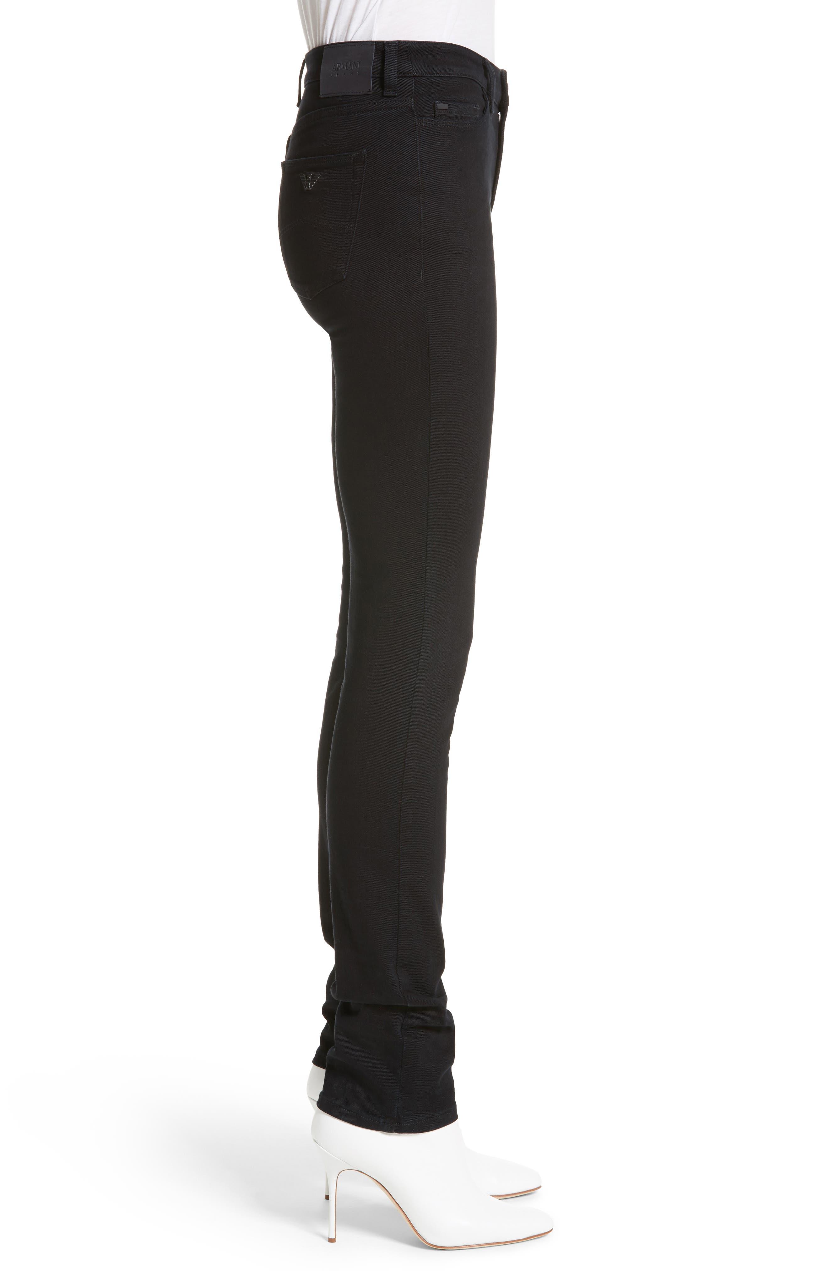 Straight Leg Jeans,                             Alternate thumbnail 3, color,                             Black