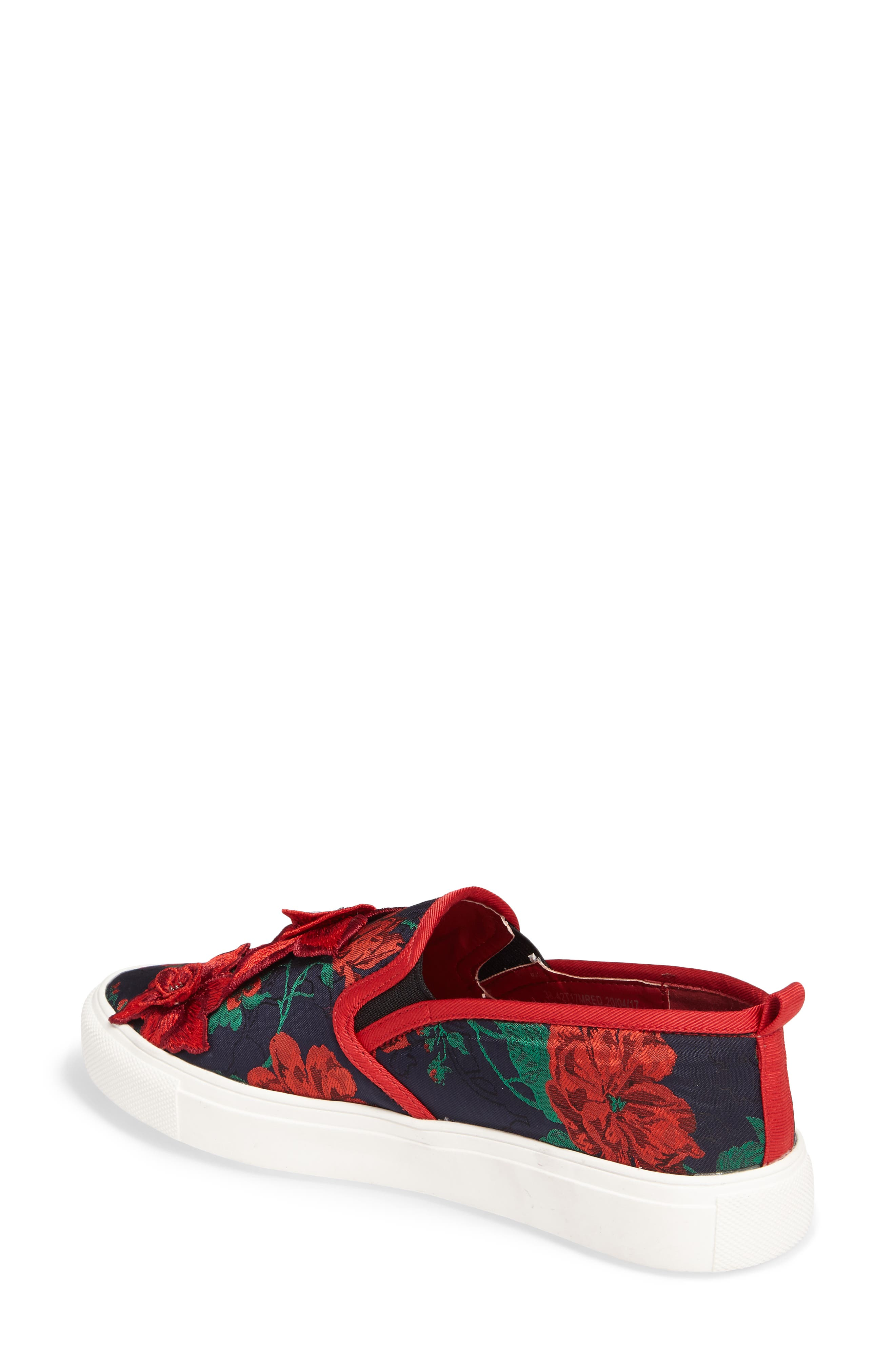 Alternate Image 2  - Topshop Tessa Embroidered Slip-On Sneaker (Women)