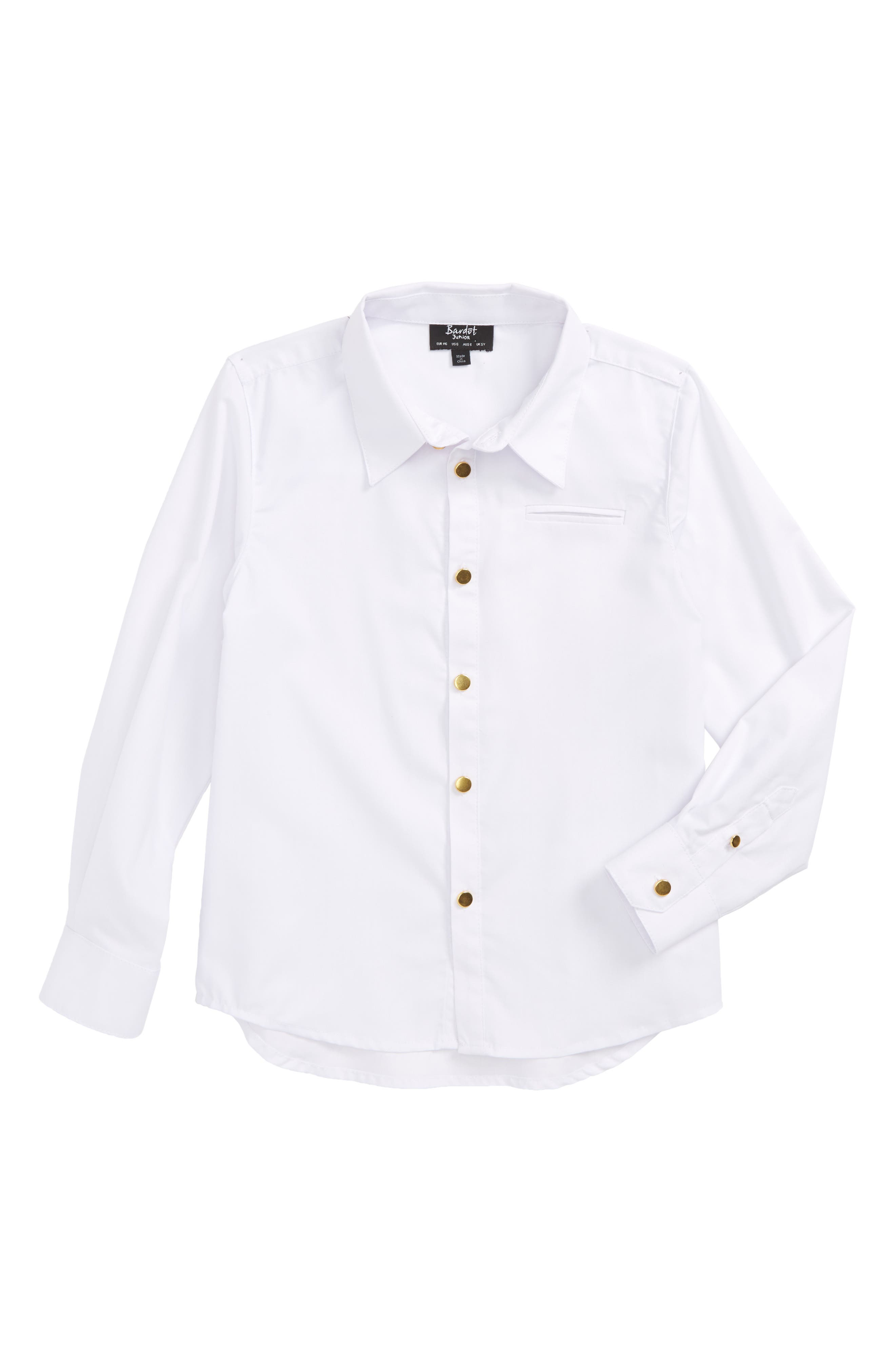 Bardot Junior Goldtone Button Shirt (Toddler Boys & Little Boys)