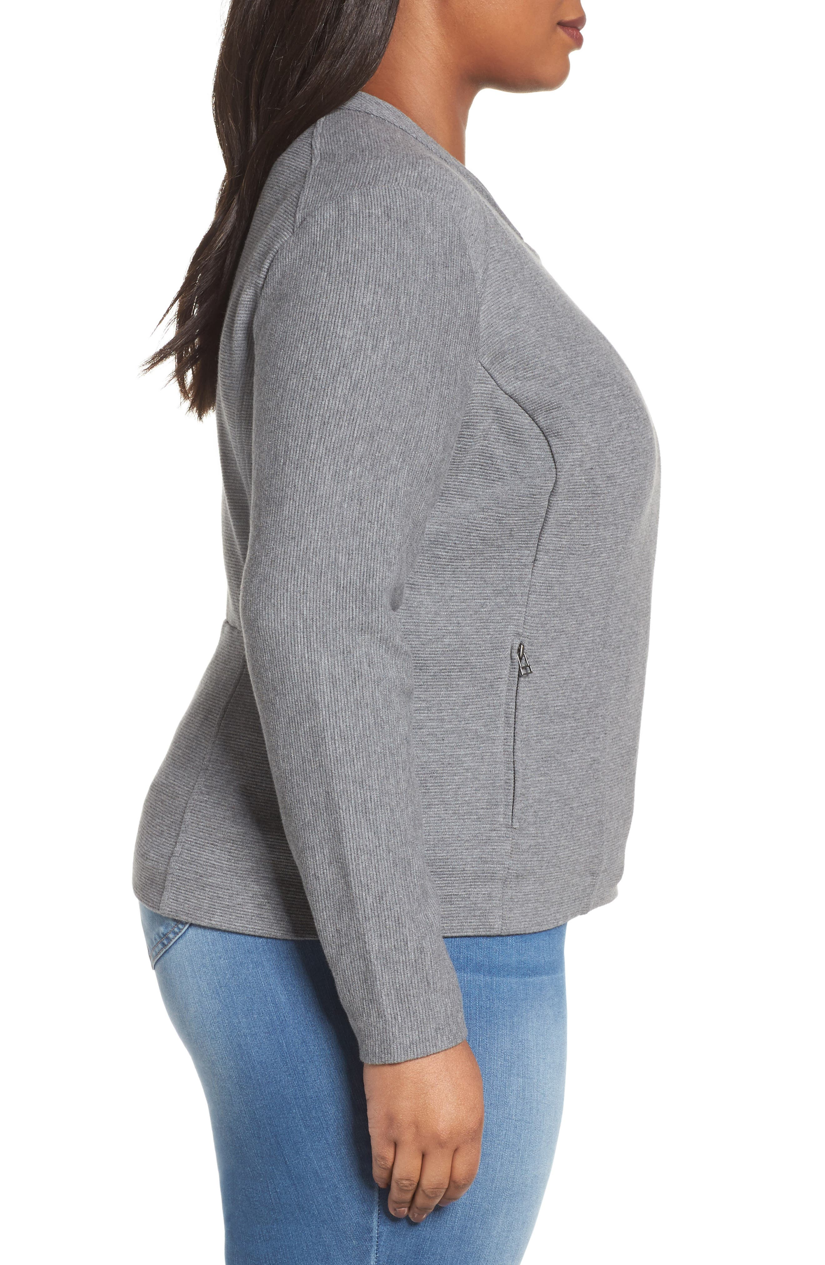 Alternate Image 3  - Sejour Ottoman Moto Jacket (Plus Size)