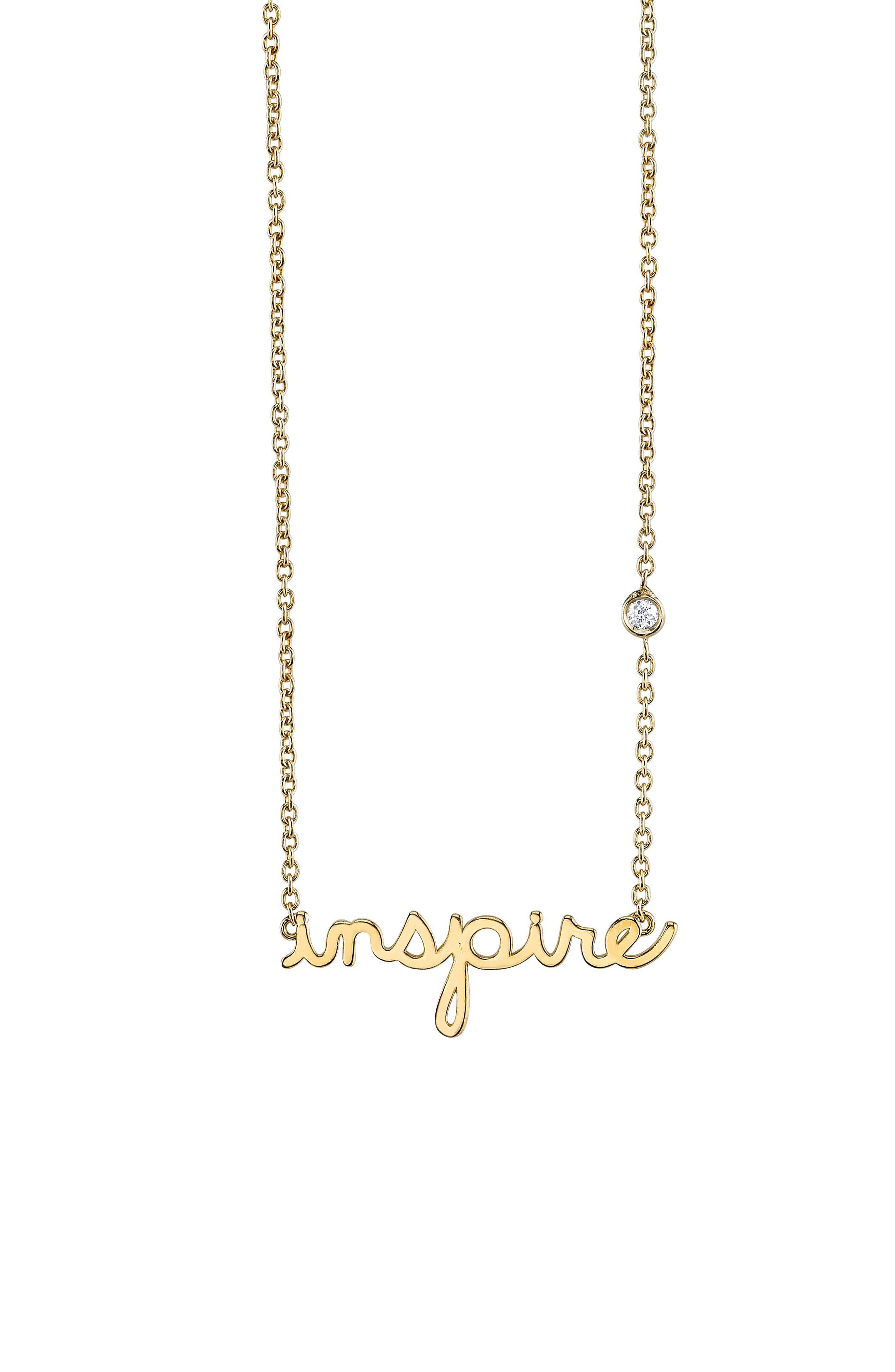 Inspire Necklace,                         Main,                         color, Gold