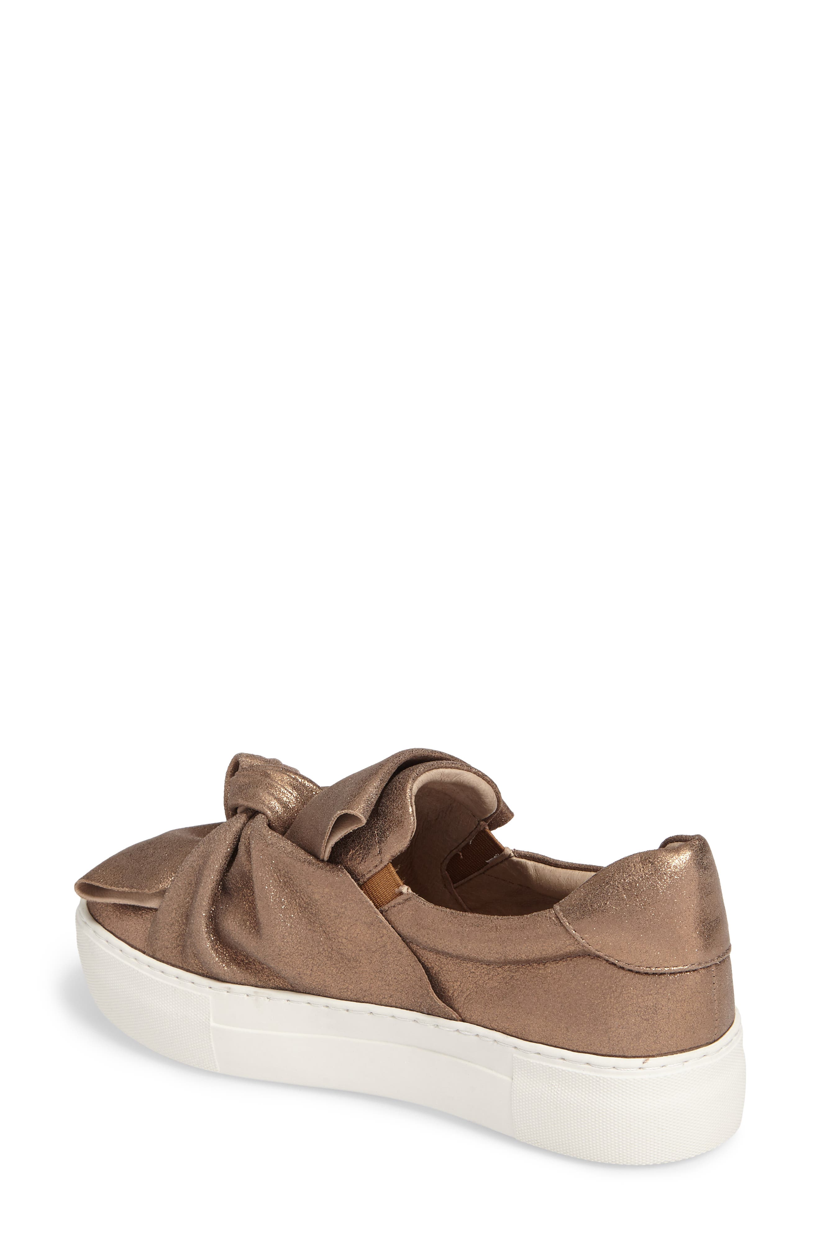 Audra Slip-On Sneaker,                             Alternate thumbnail 2, color,                             Taupe Leather