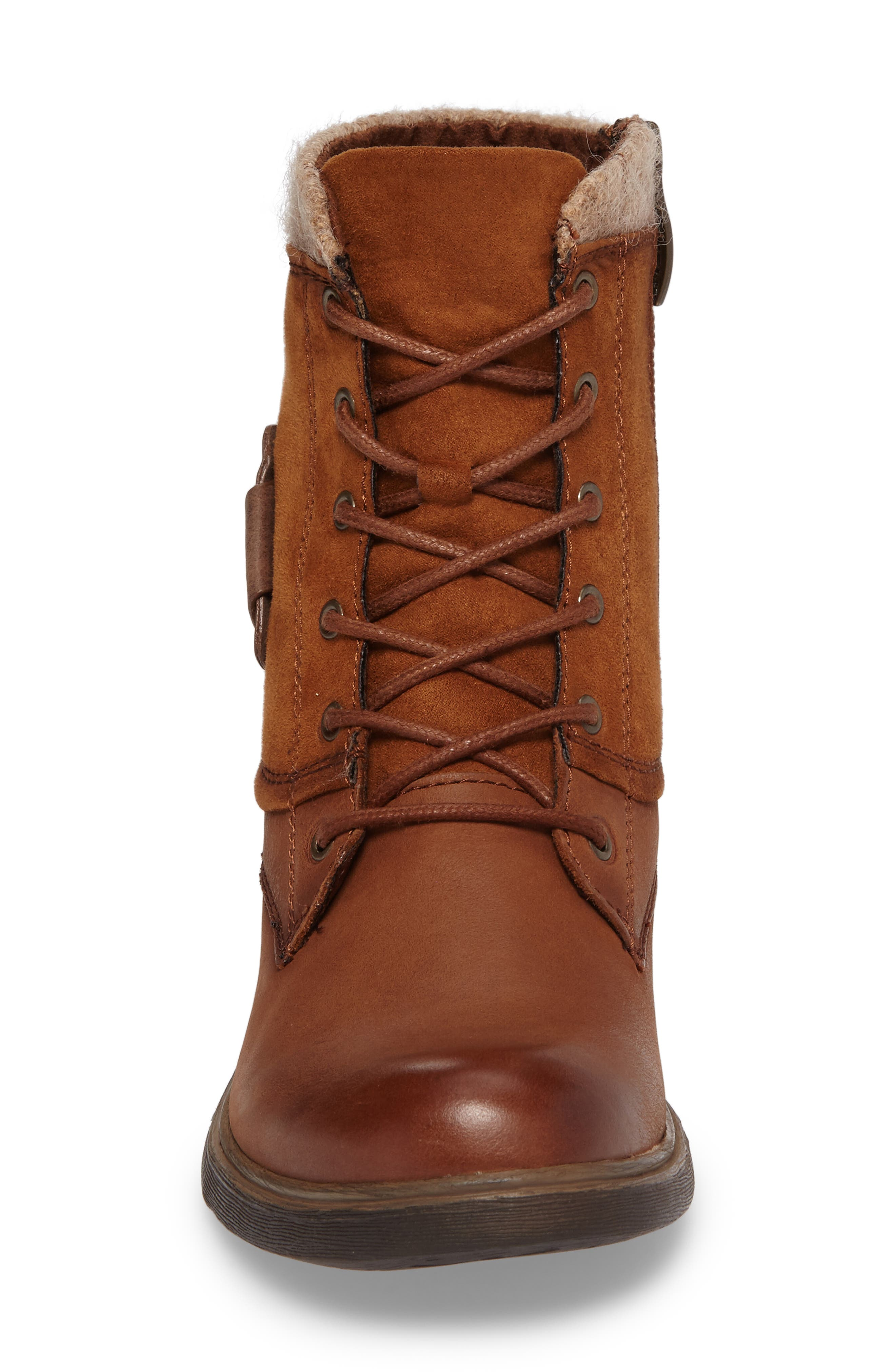 Helios Lace-Up Bootie,                             Alternate thumbnail 4, color,                             Muscat Leather