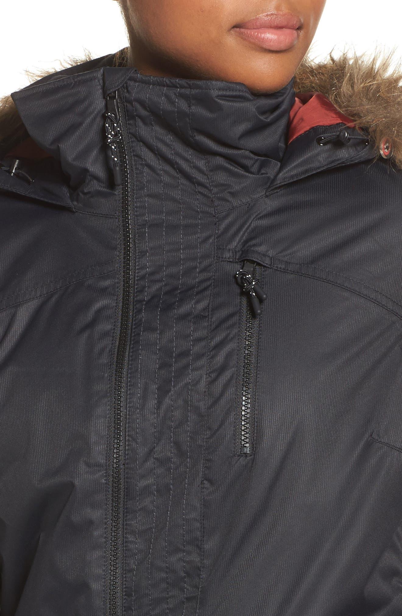 Alternate Image 4  - Burton Hazel Waterproof Hooded Jacket with Removable Faux Fur Trim