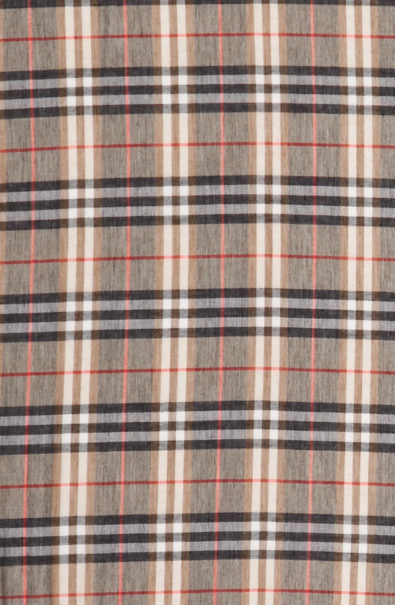 Castleford Check Scarf,                             Alternate thumbnail 3, color,                             Camel