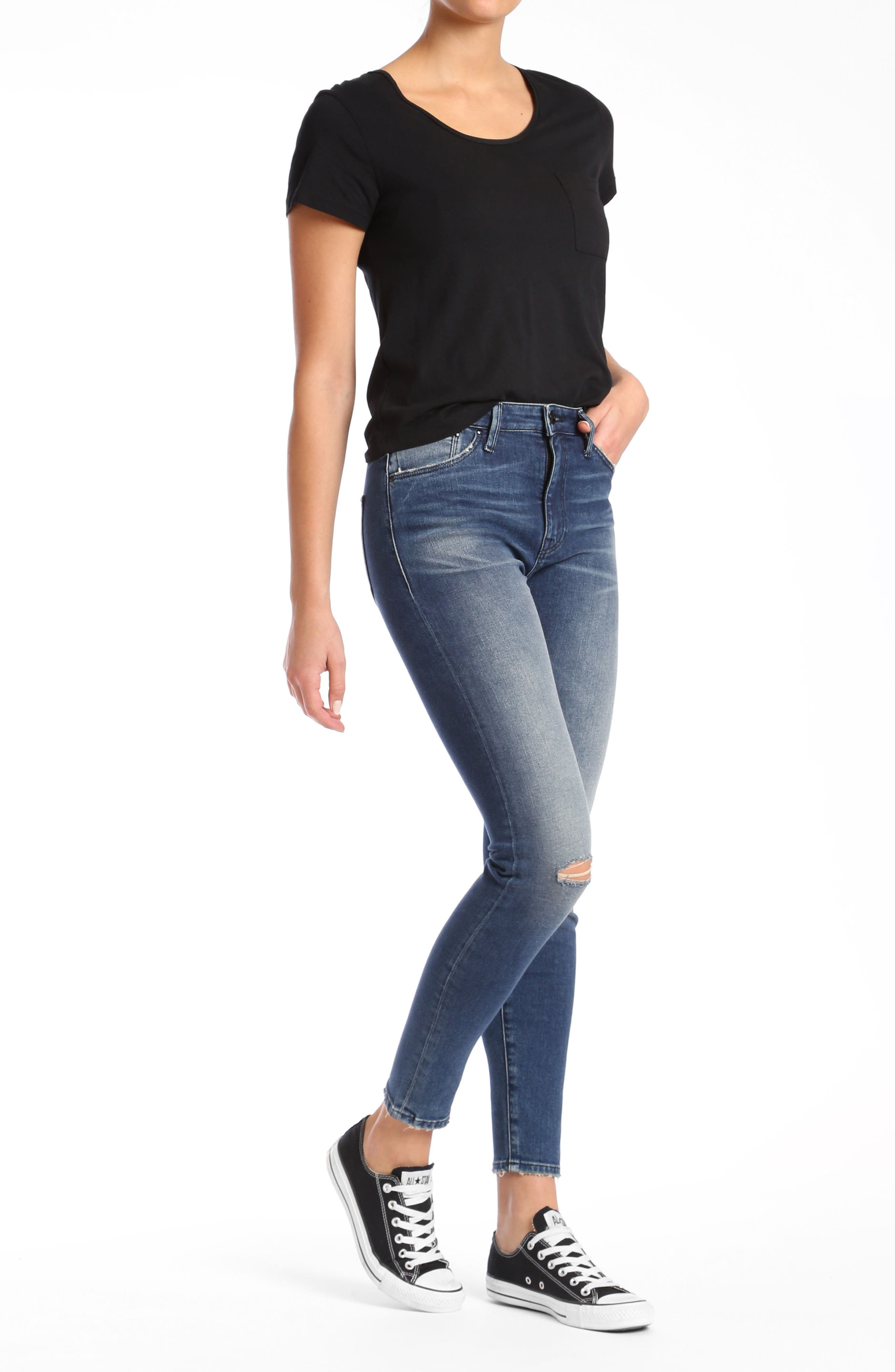 Lucy Skinny Jeans,                             Alternate thumbnail 4, color,                             Dark Vintage Gold Icon