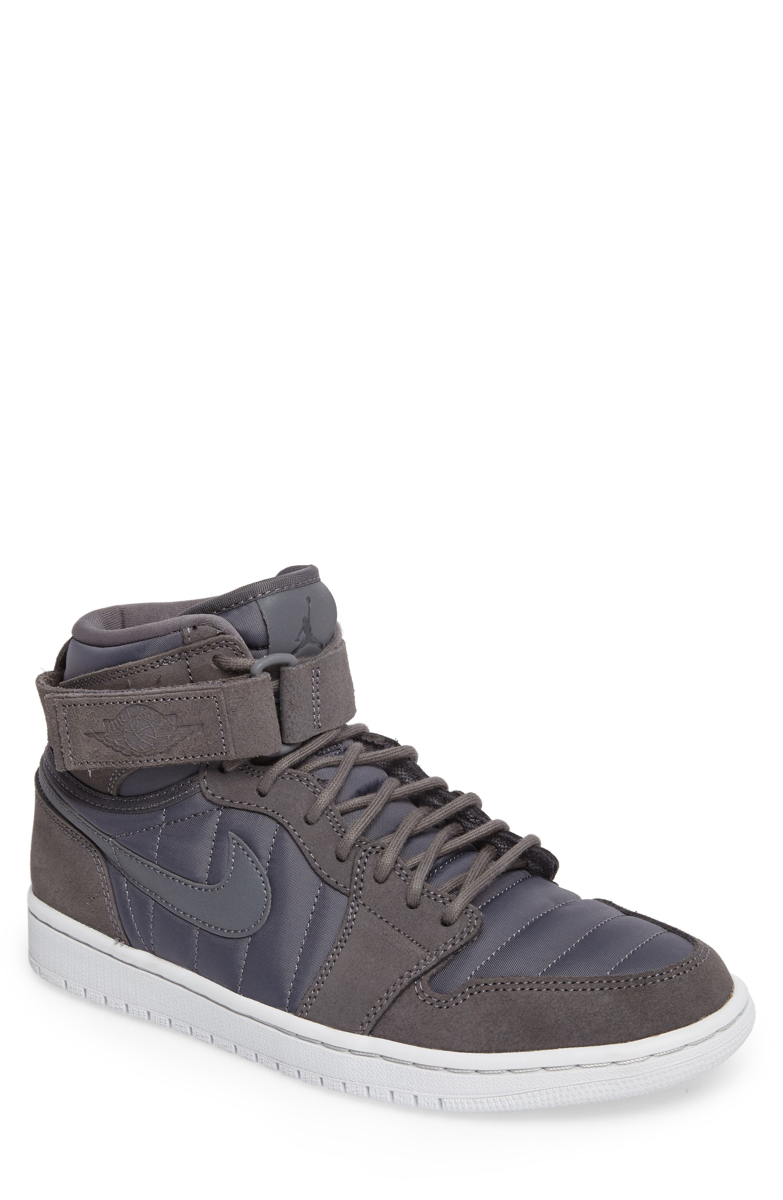 Air Jordan 1 Sneaker,                         Main,                         color, Dark Grey/Anthracite/Platinum