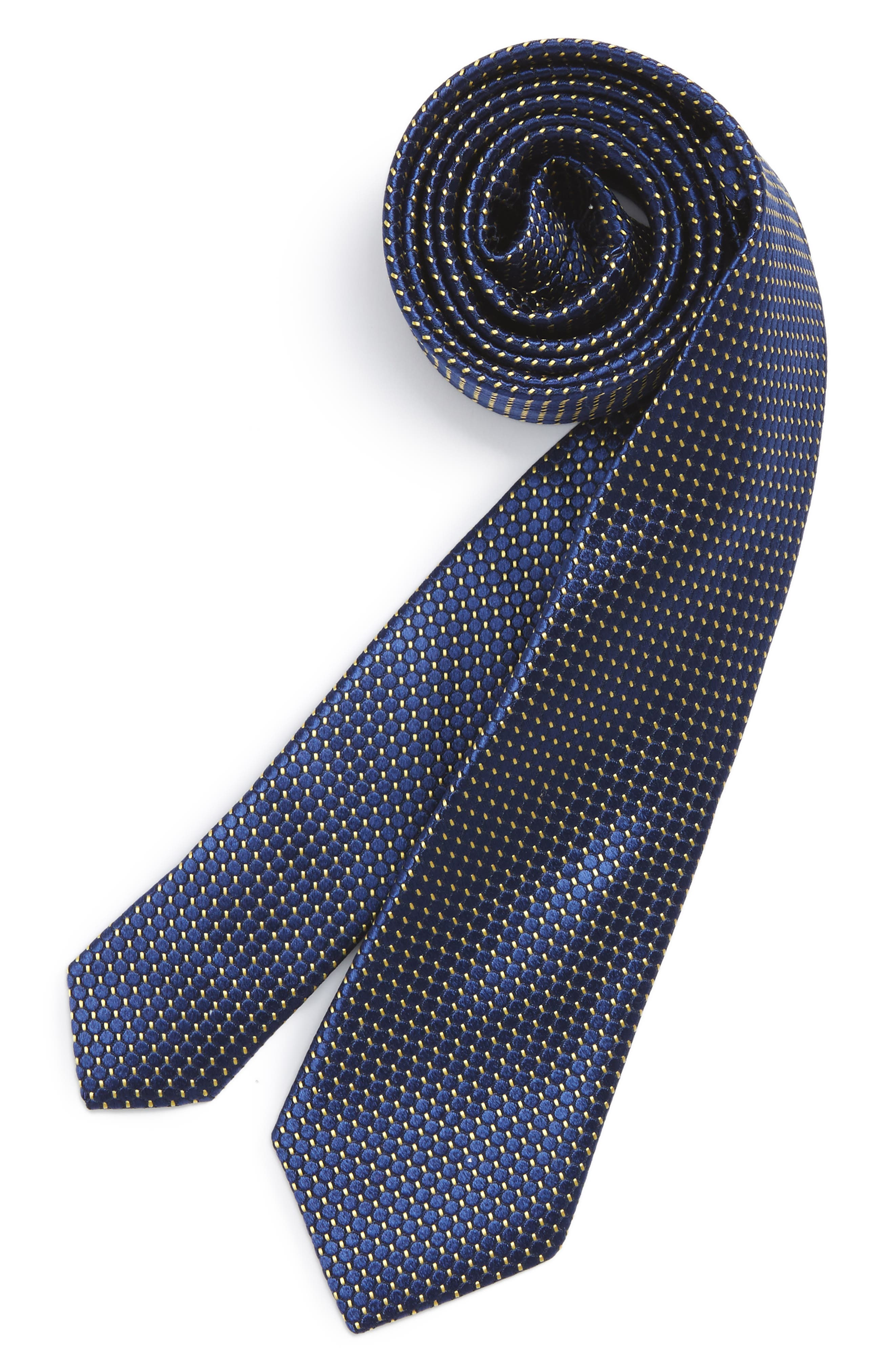 Michael Kors Dot Grid Silk Tie (Big Boys)