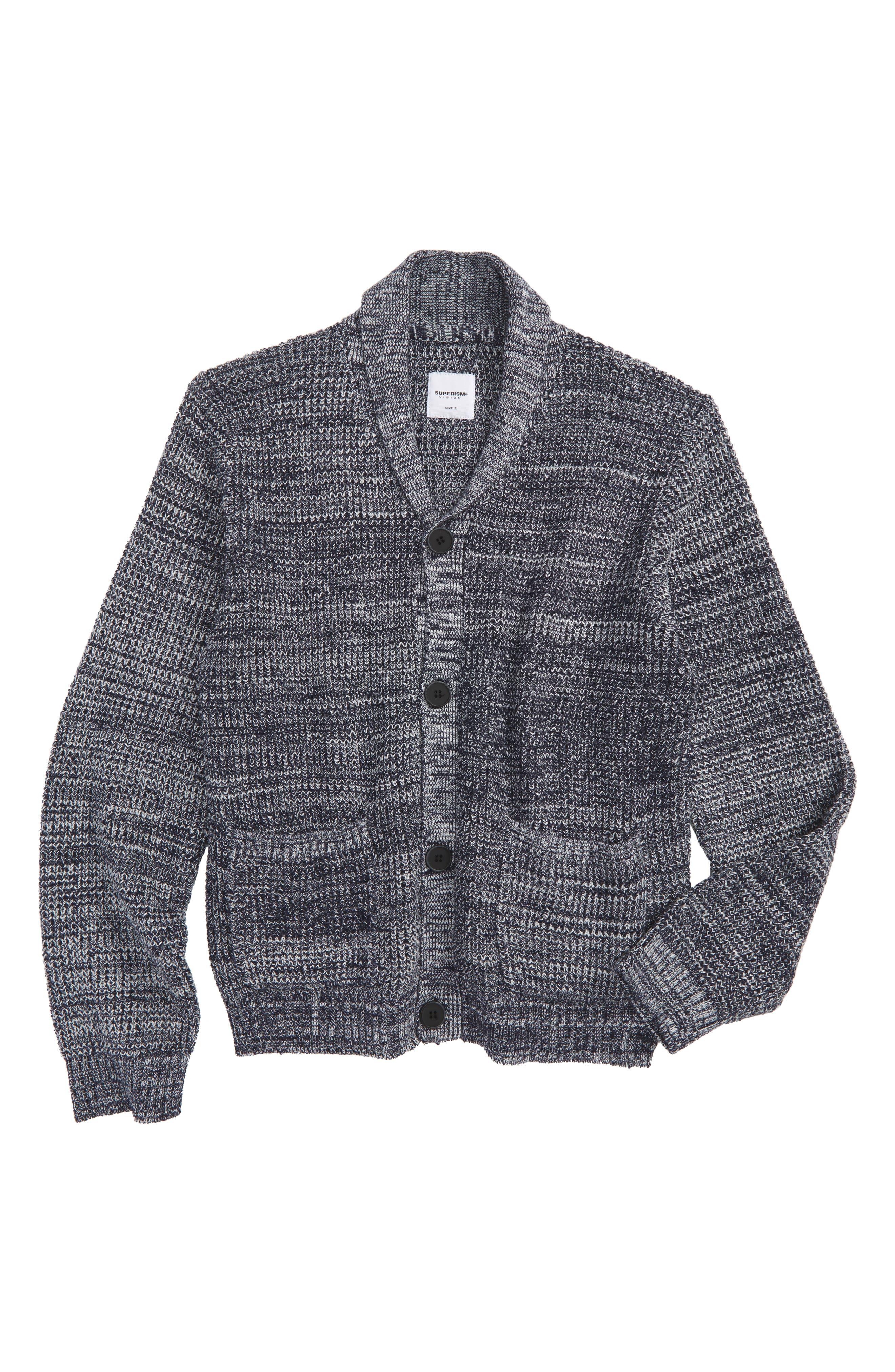 Alternate Image 1 Selected - Superism Cruz Cardigan Sweater (Big Boys)