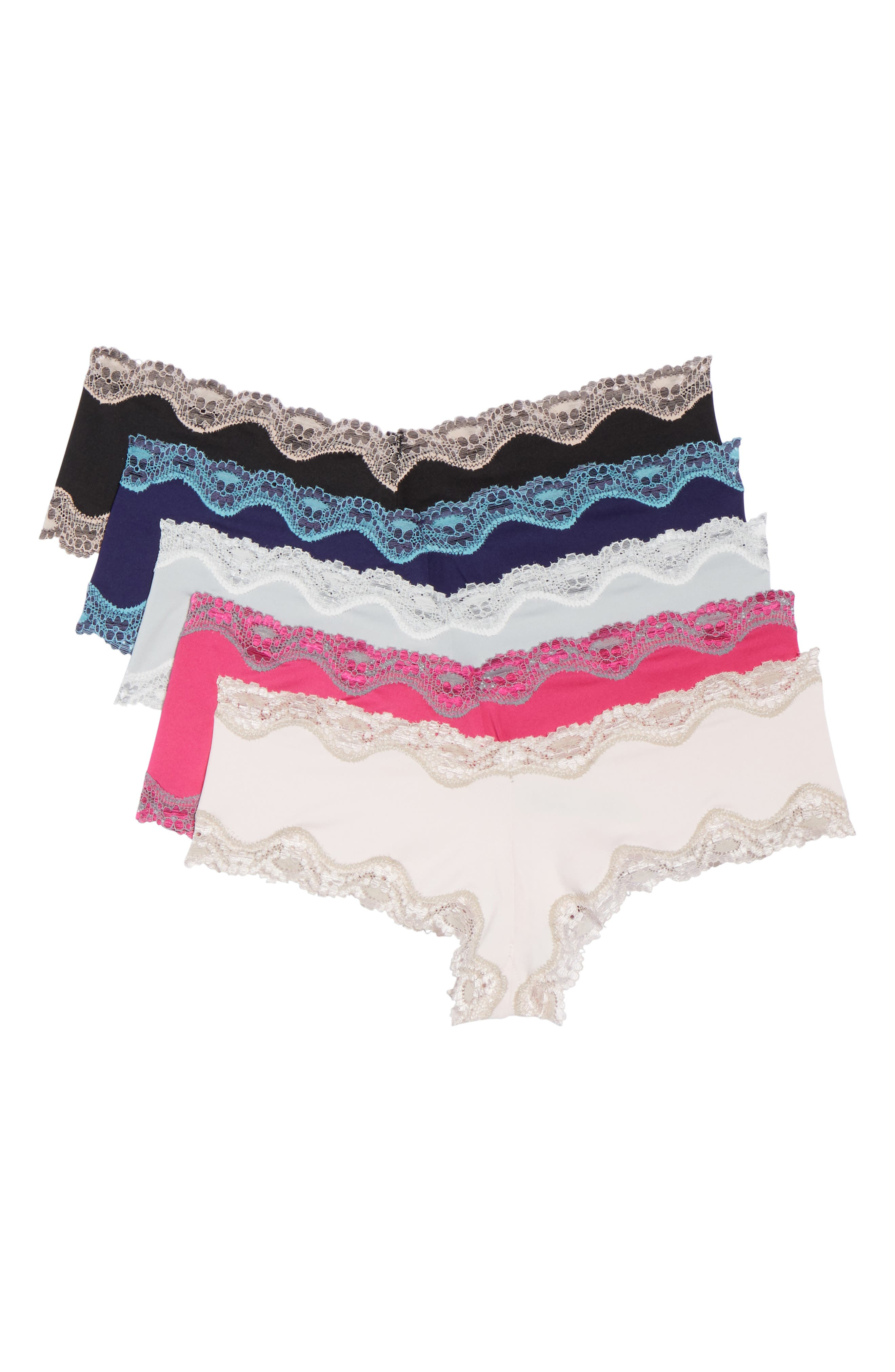 Honeydew 5-Pack Lace Trim Hipster Panties