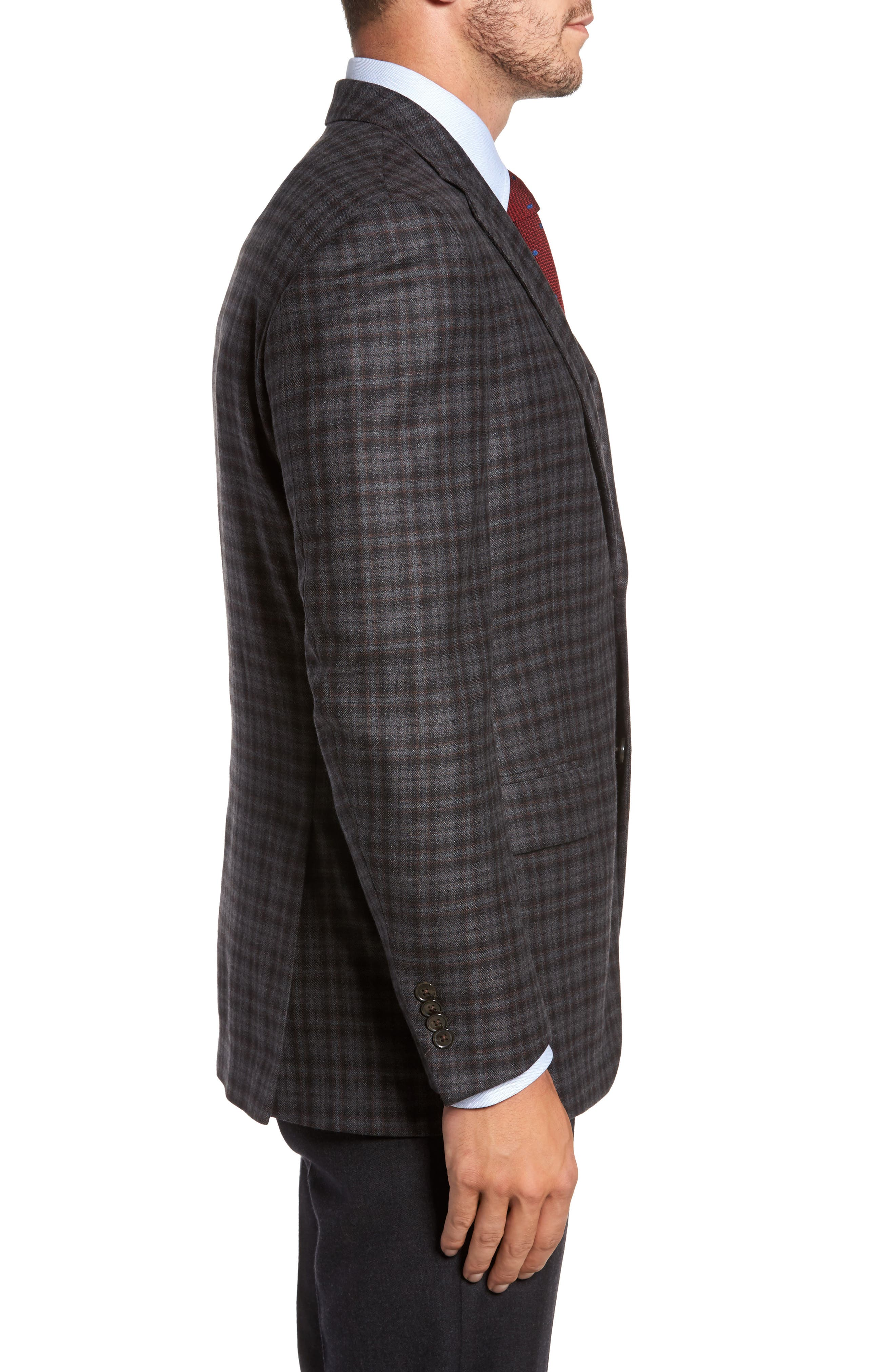 Alternate Image 3  - Peter Millar Classic Fit Plaid Wool Sport Coat