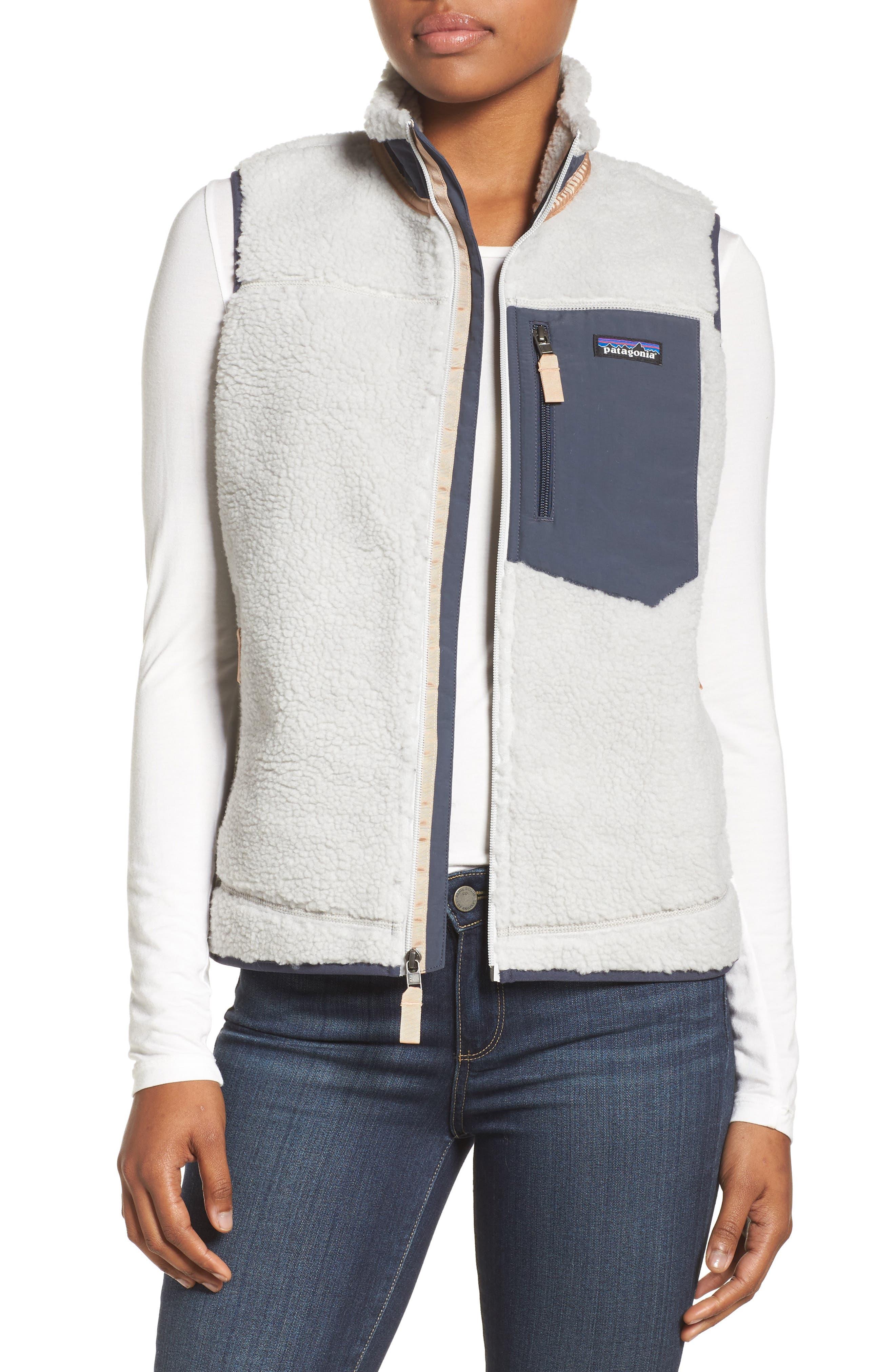 Classic Retro-X<sup>®</sup> Fleece Vest,                         Main,                         color, Tailored Grey W/ Smolder Blue