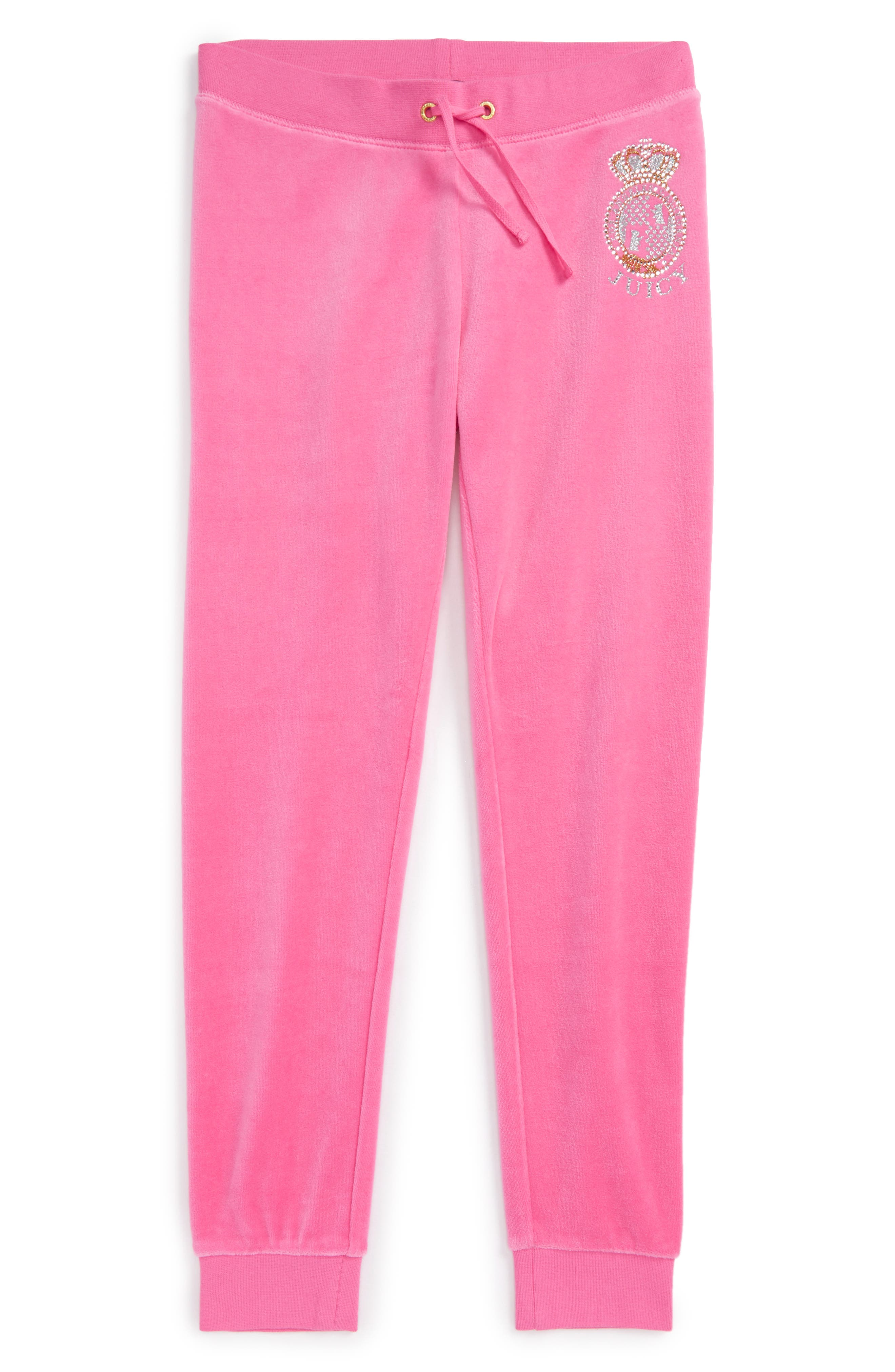Scotty Crest Zuma Velour Pants,                         Main,                         color, Highlighter