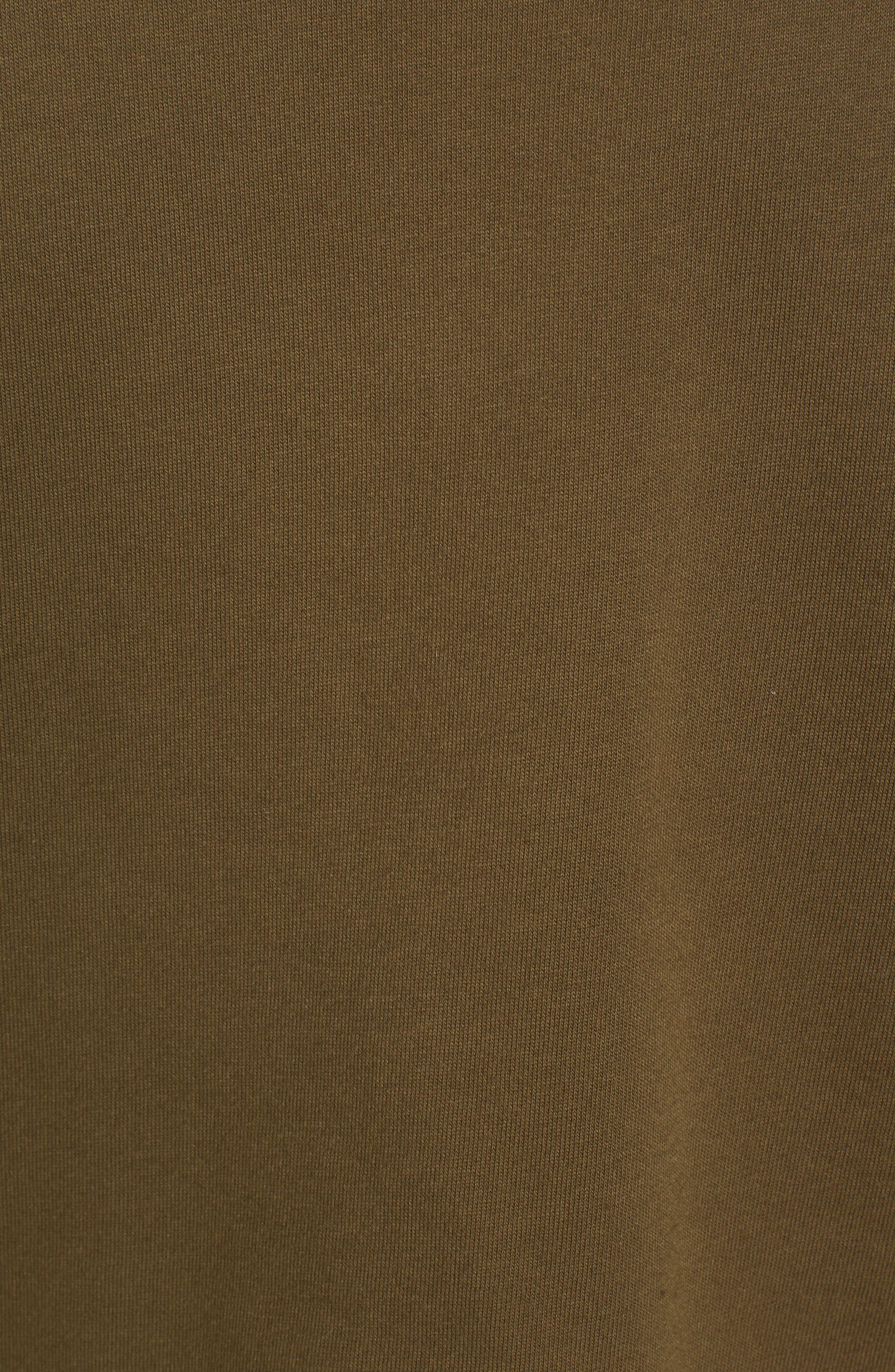 Pleat Sleeve Sweater,                             Alternate thumbnail 5, color,                             Olive Dark