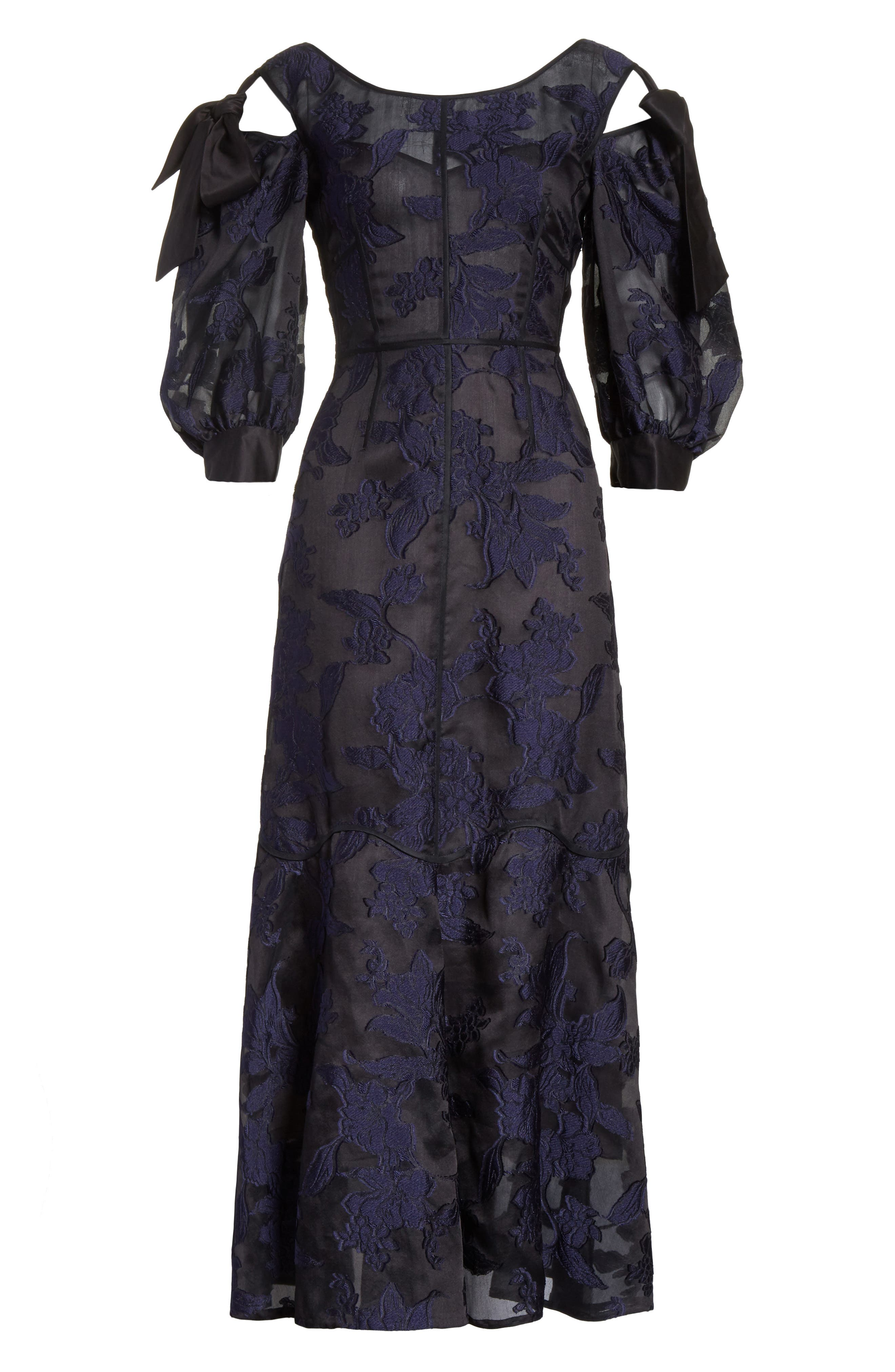 Alternate Image 6  - Rebecca Taylor Floral Organza Maxi Dress
