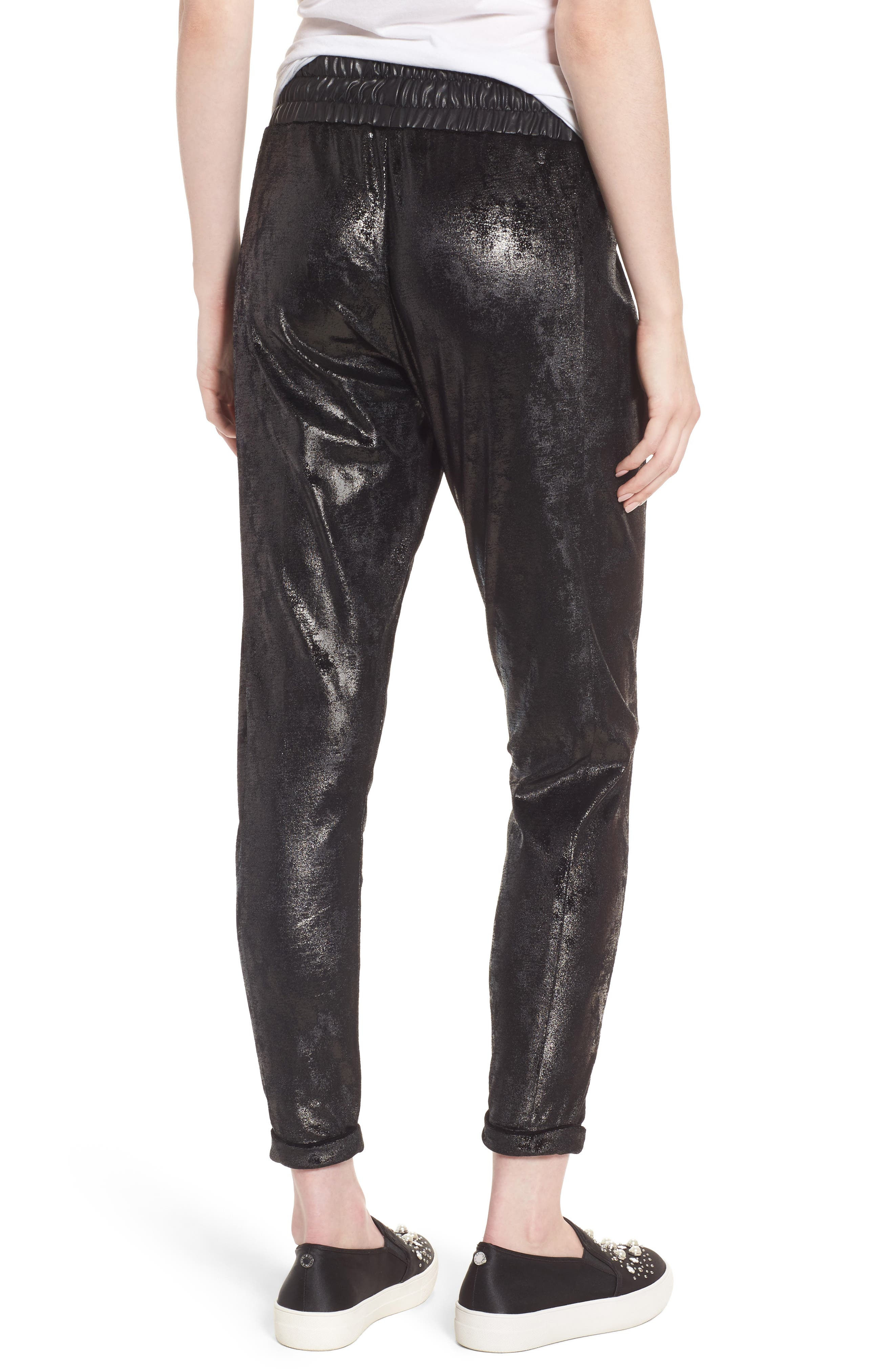 Randall Cuffed Sweatpants,                             Alternate thumbnail 2, color,                             Black