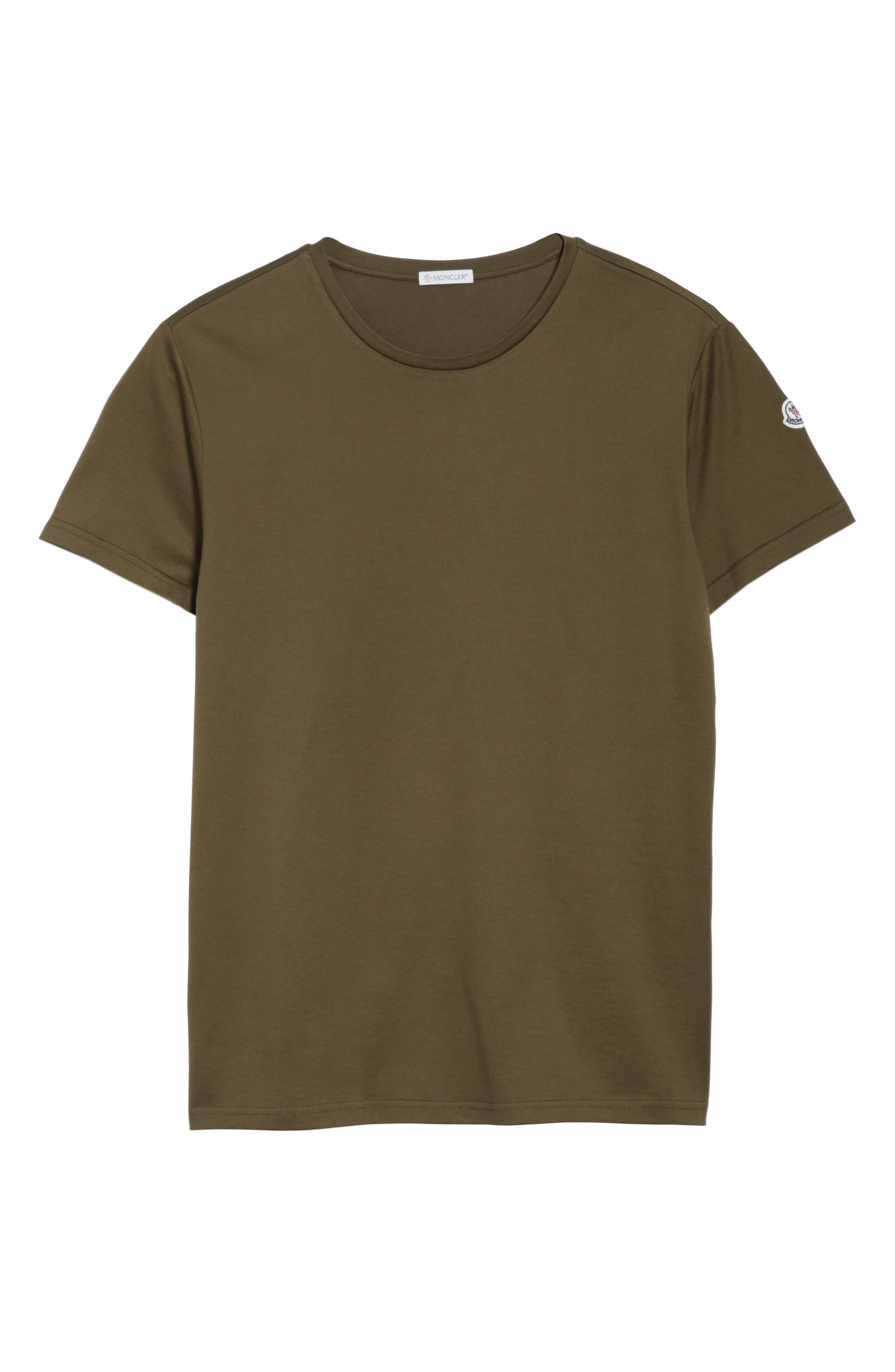 Flag Trim T-Shirt,                             Alternate thumbnail 6, color,                             Olive