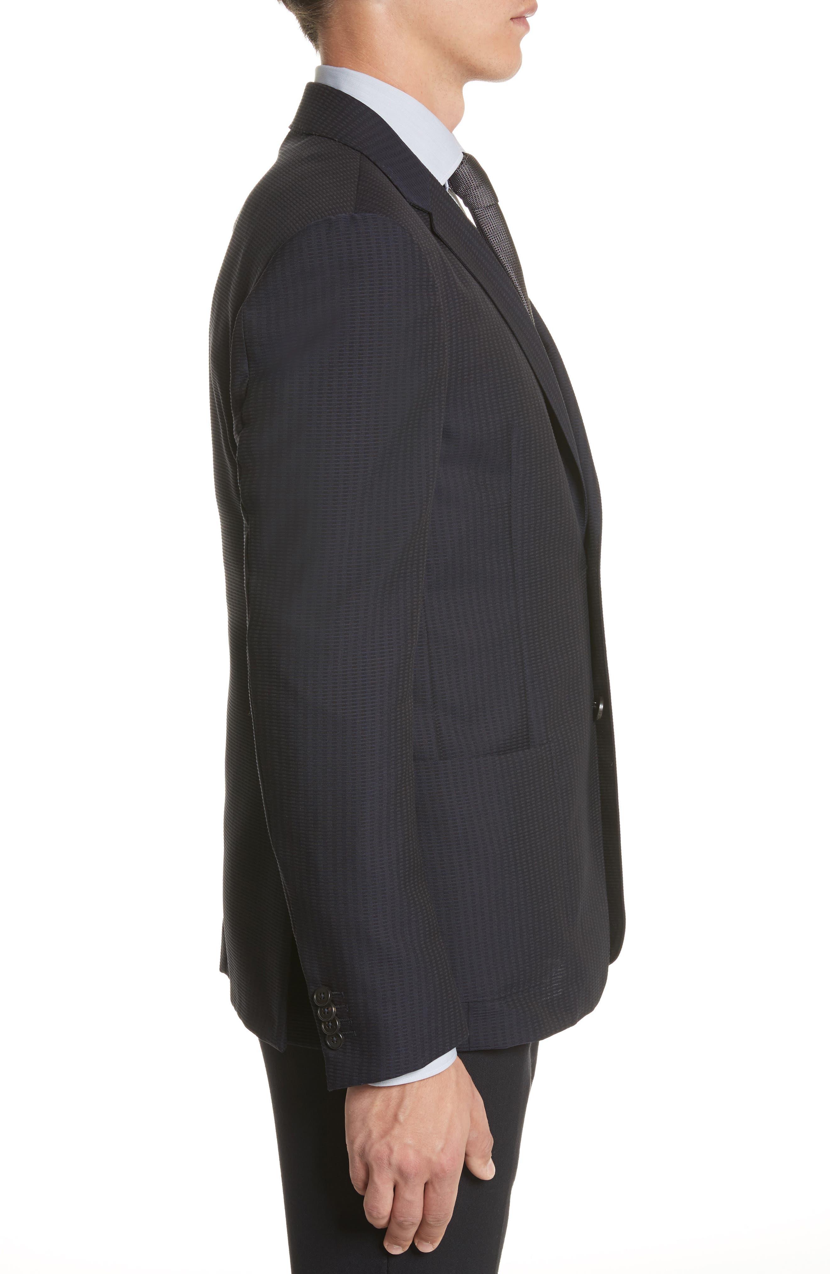 Alternate Image 3  - Z Zegna Classic Fit Stripe Cotton Blend Sport Coat