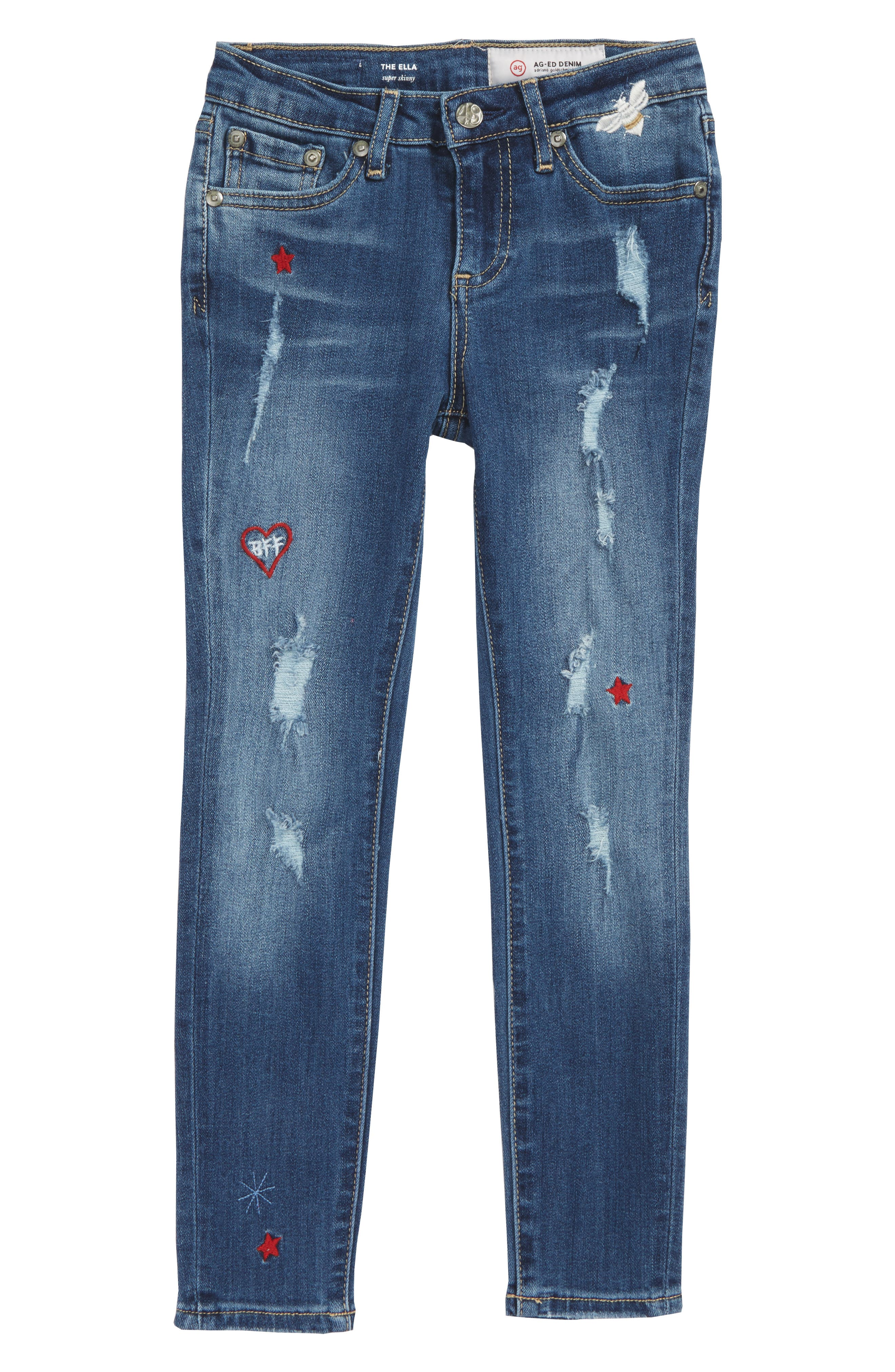 The Ella Super Skinny Jeans,                             Main thumbnail 1, color,                             Bluebell