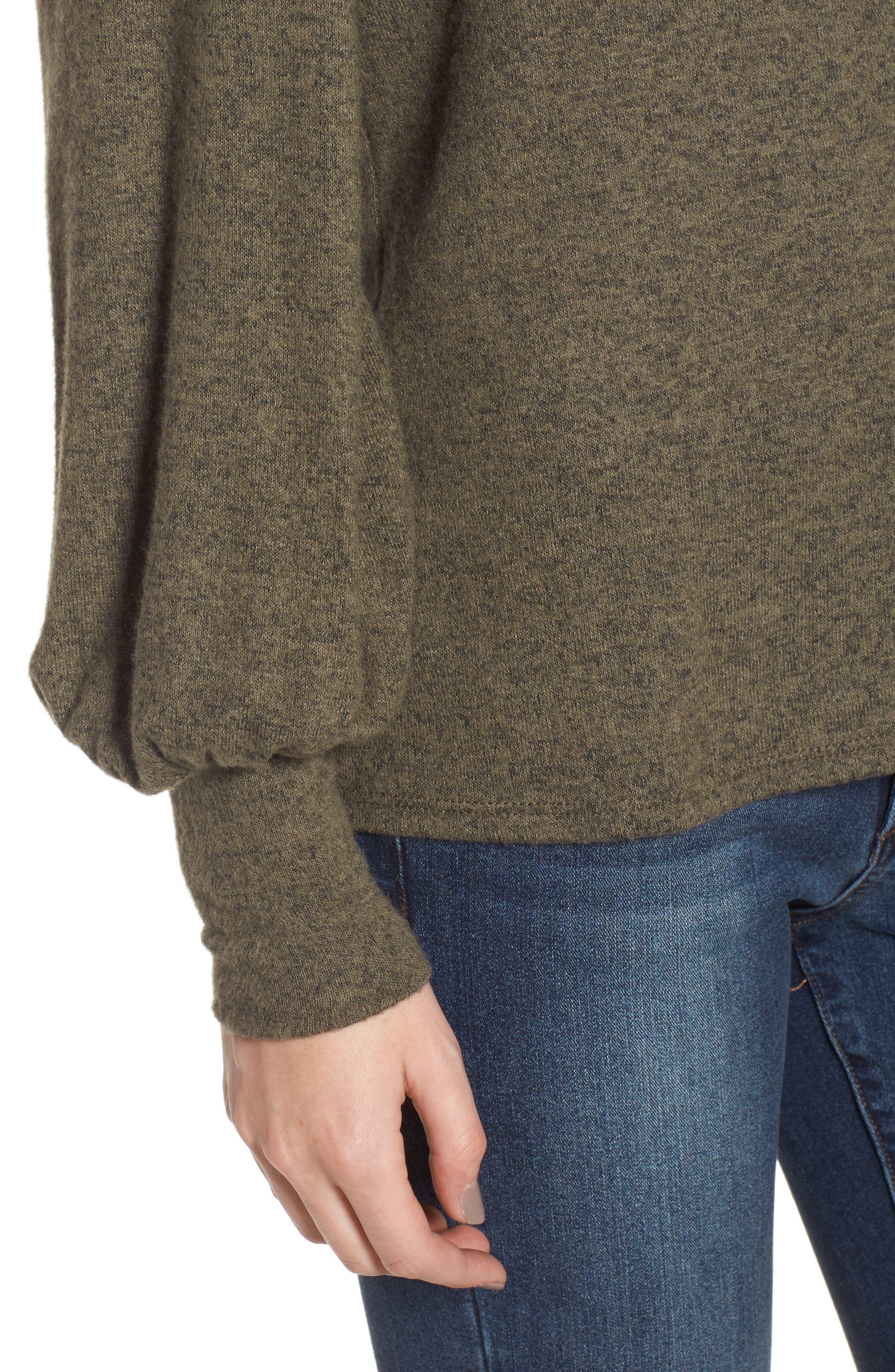Bell Sleeve Pullover,                             Alternate thumbnail 4, color,                             Green
