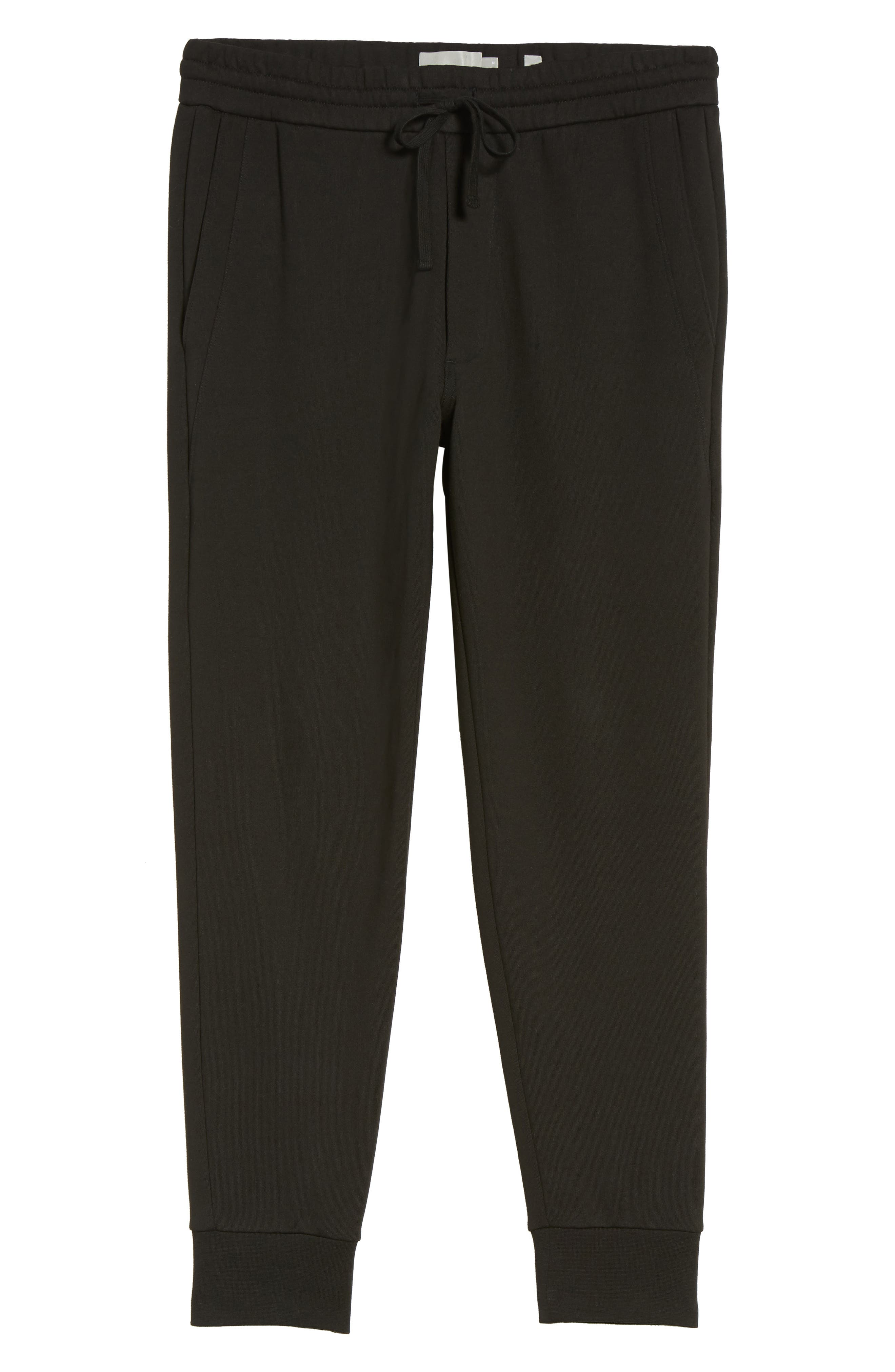 Cotton Sweatpants,                             Alternate thumbnail 6, color,                             Black