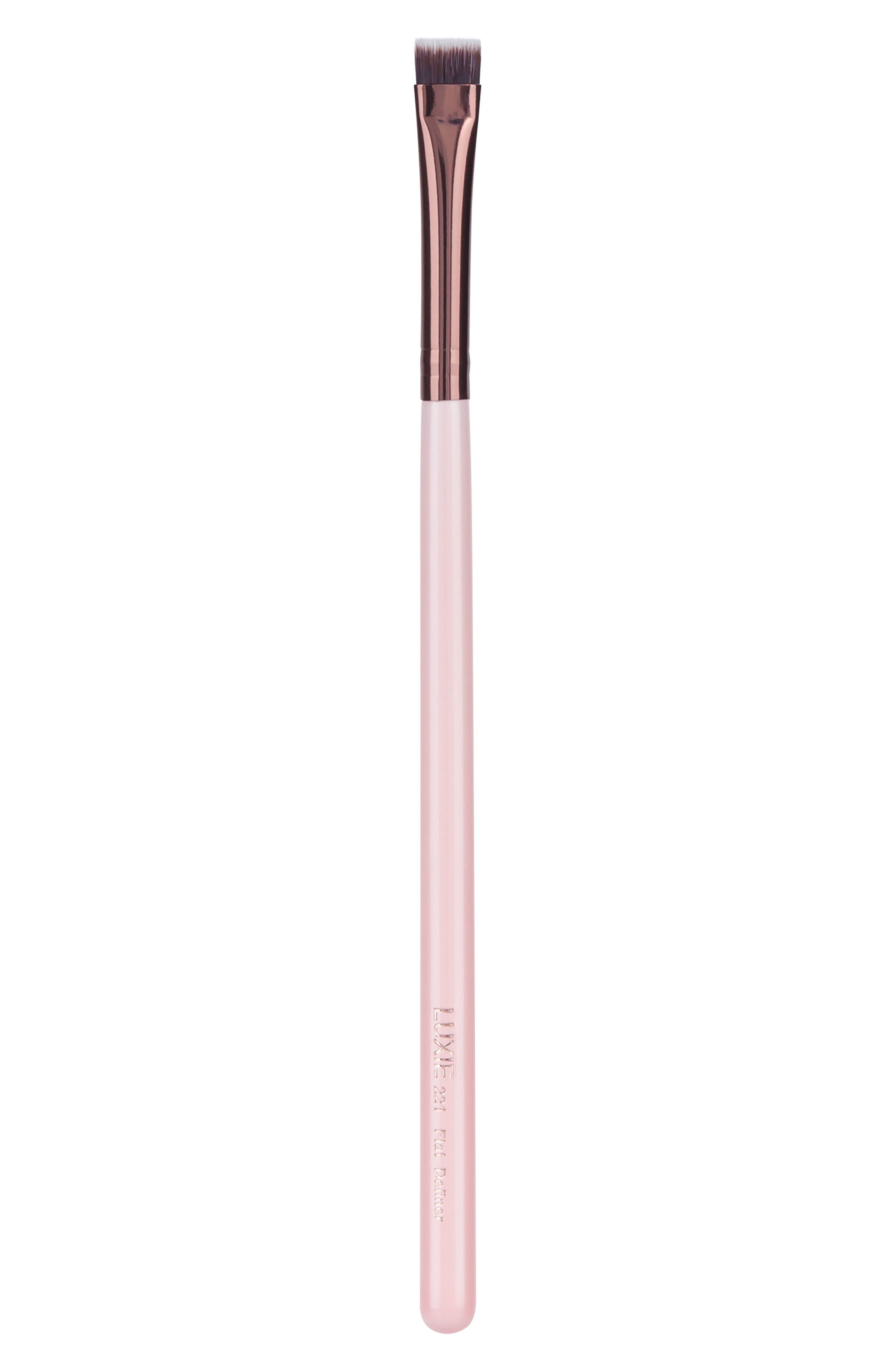 221 Rose Gold Flat Definer Brush,                             Main thumbnail 1, color,                             No Color