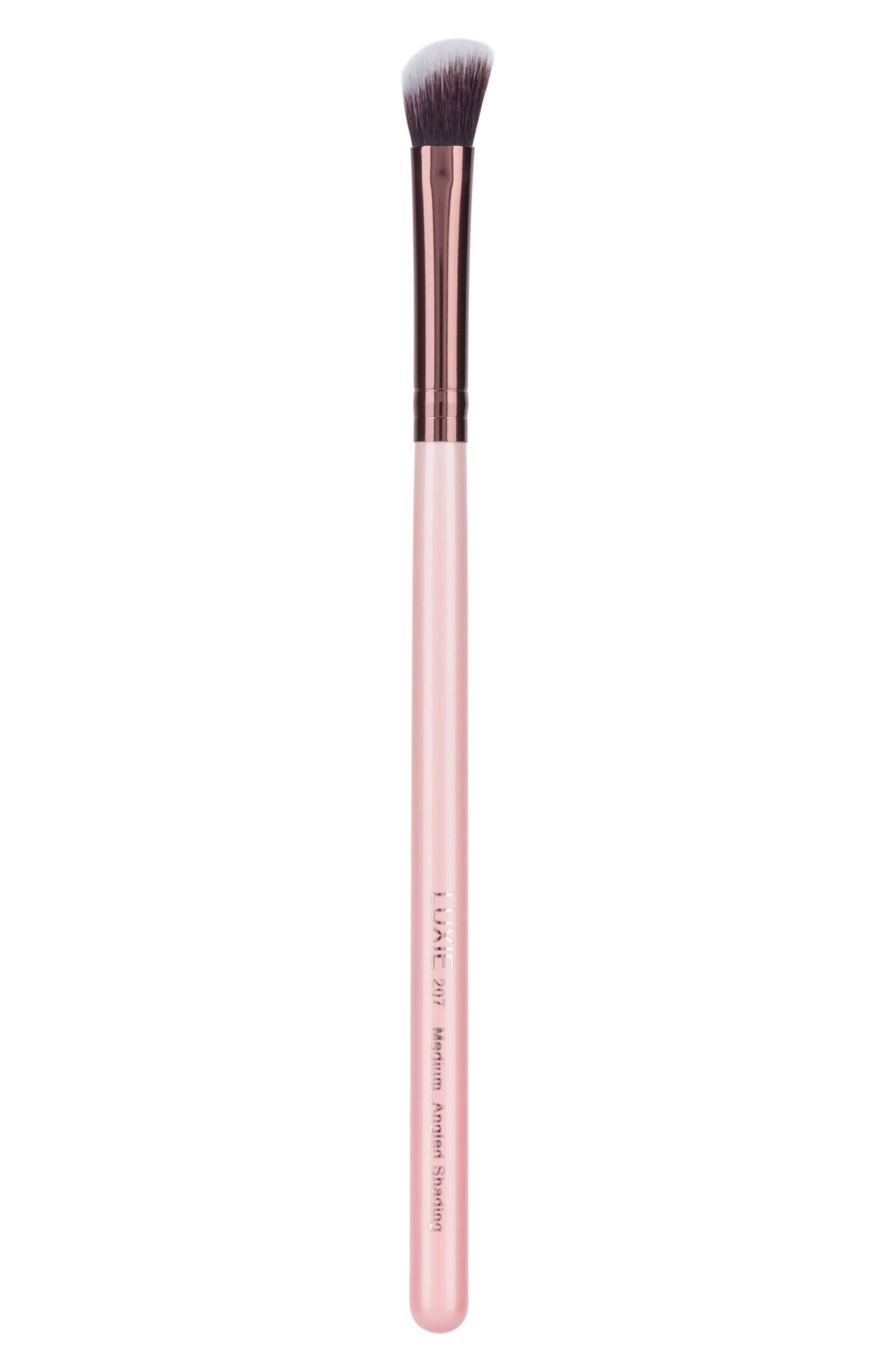 Main Image - Luxie 207 Rose Gold Medium Angled Shading Eye Brush
