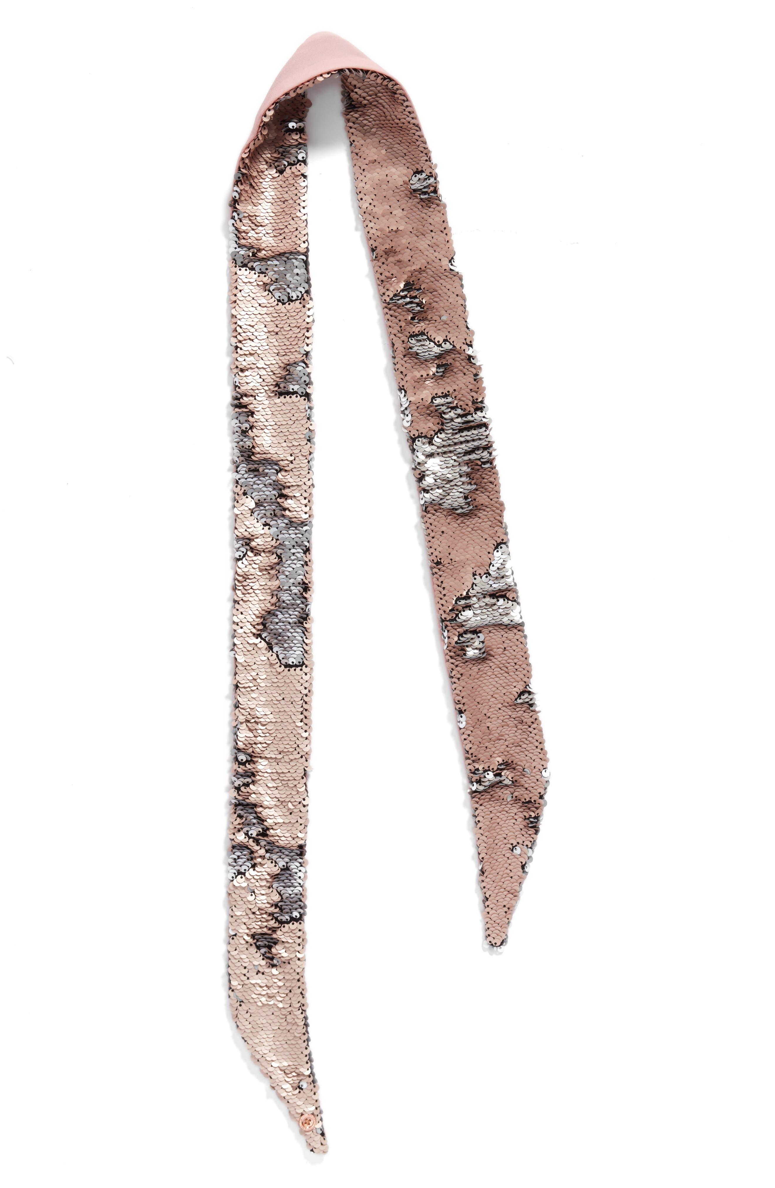 Alternate Image 3  - Ted Baker London Sequin Velvet Skinny Scarf