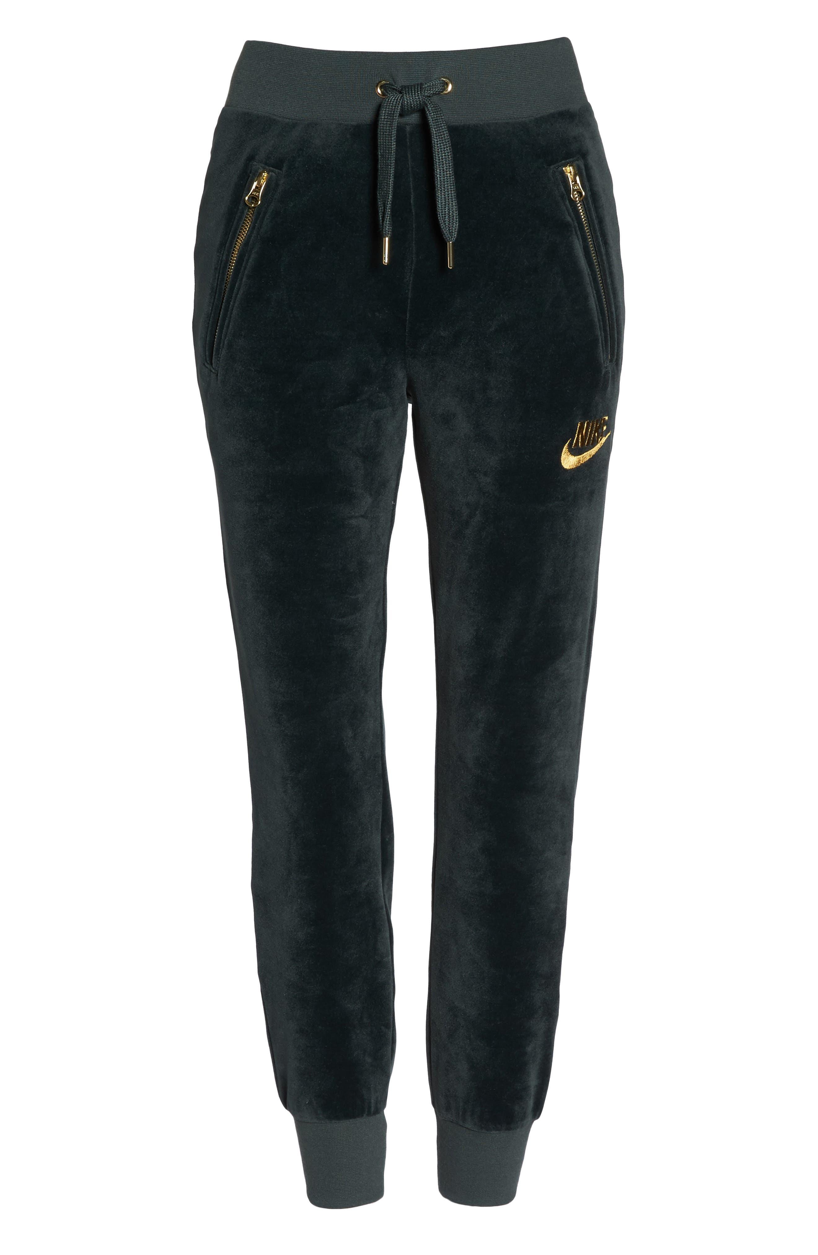 Alternate Image 7  - Nike Velour Drawstring Capri Pants