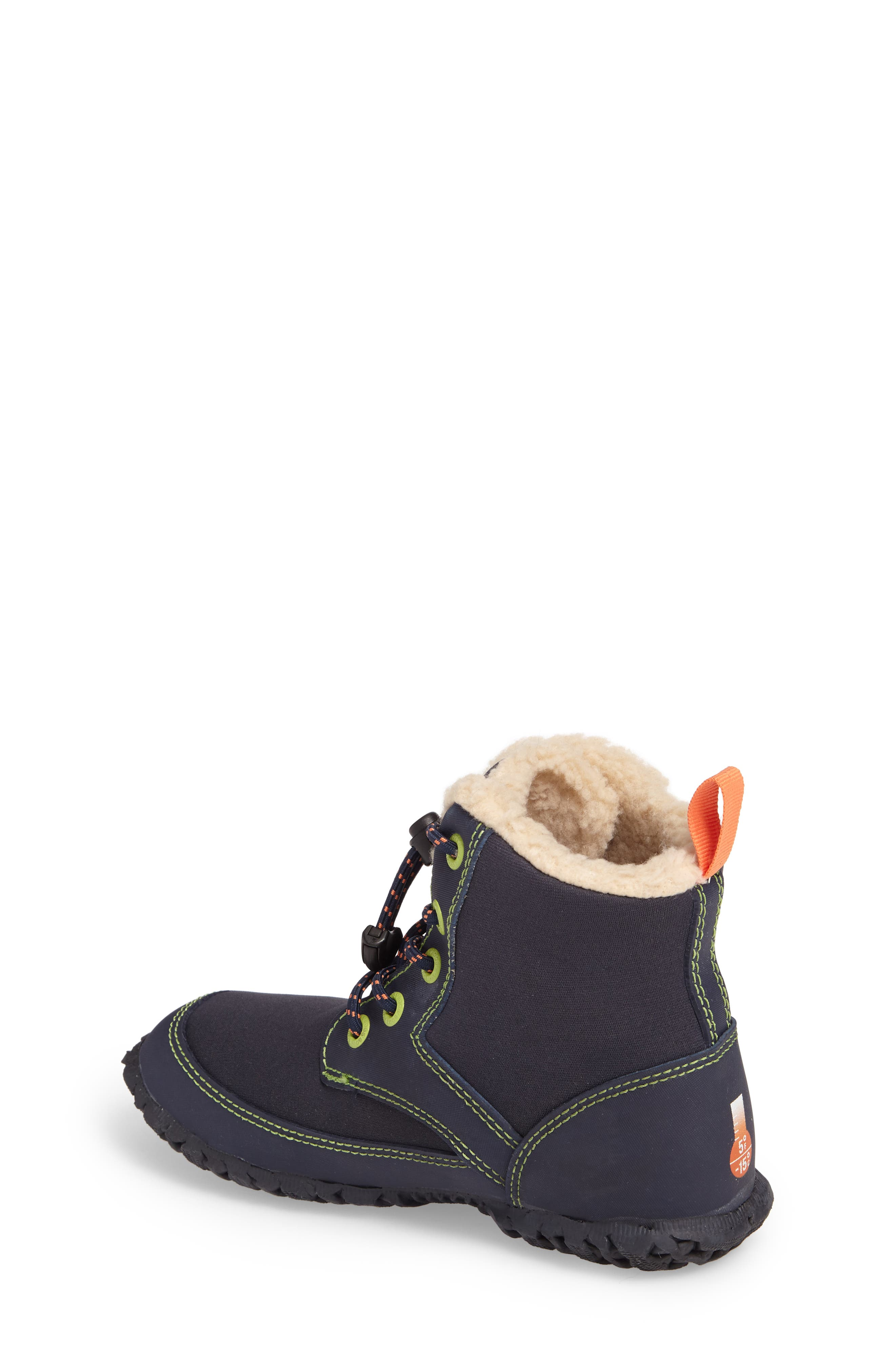 Skyler Faux Fur Insulated Waterproof Boot,                             Alternate thumbnail 2, color,                             Dark Blue Multi
