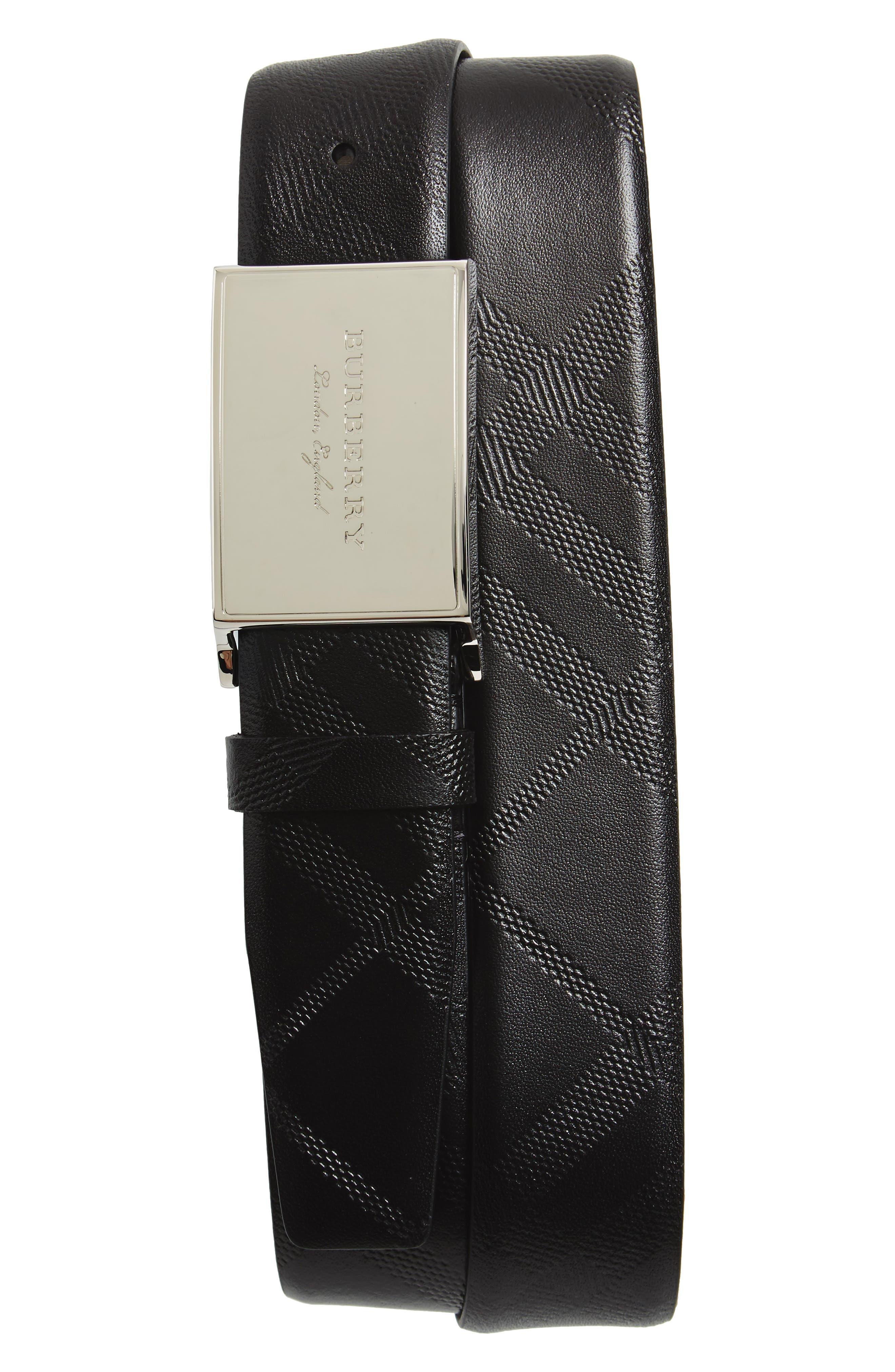 George Leather Belt,                         Main,                         color, Black