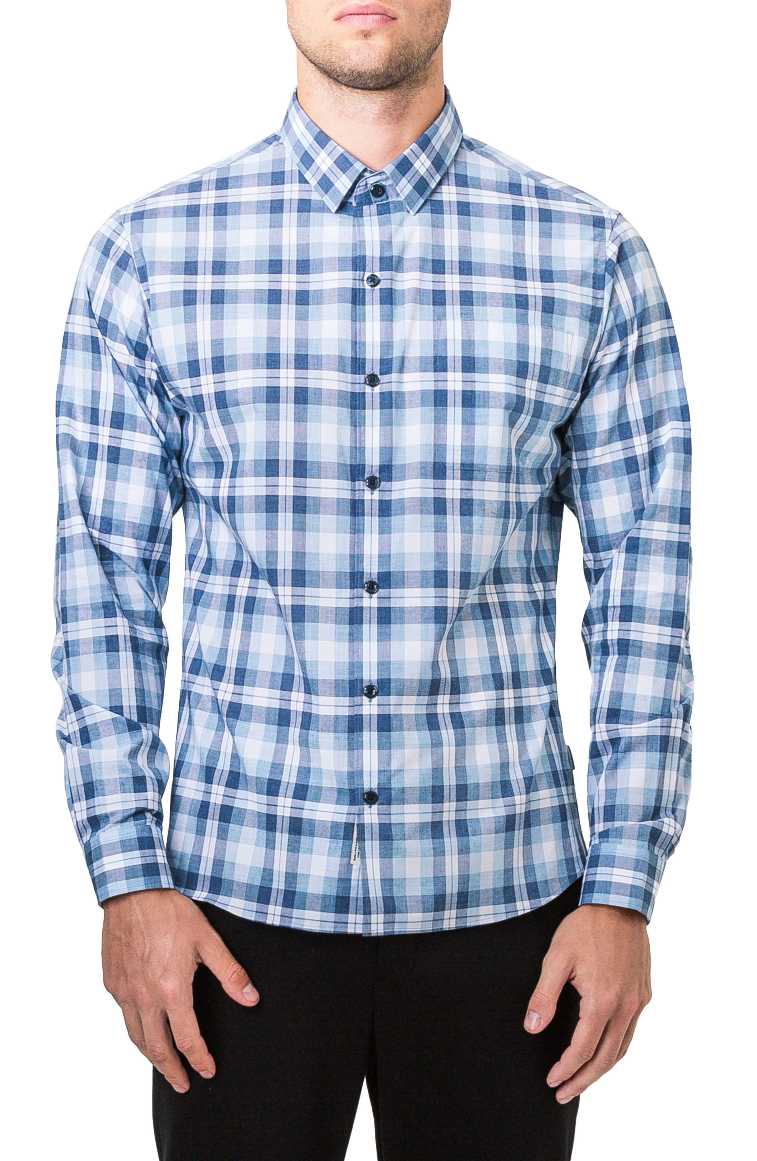 Morning Rain Woven Shirt,                         Main,                         color, Blue