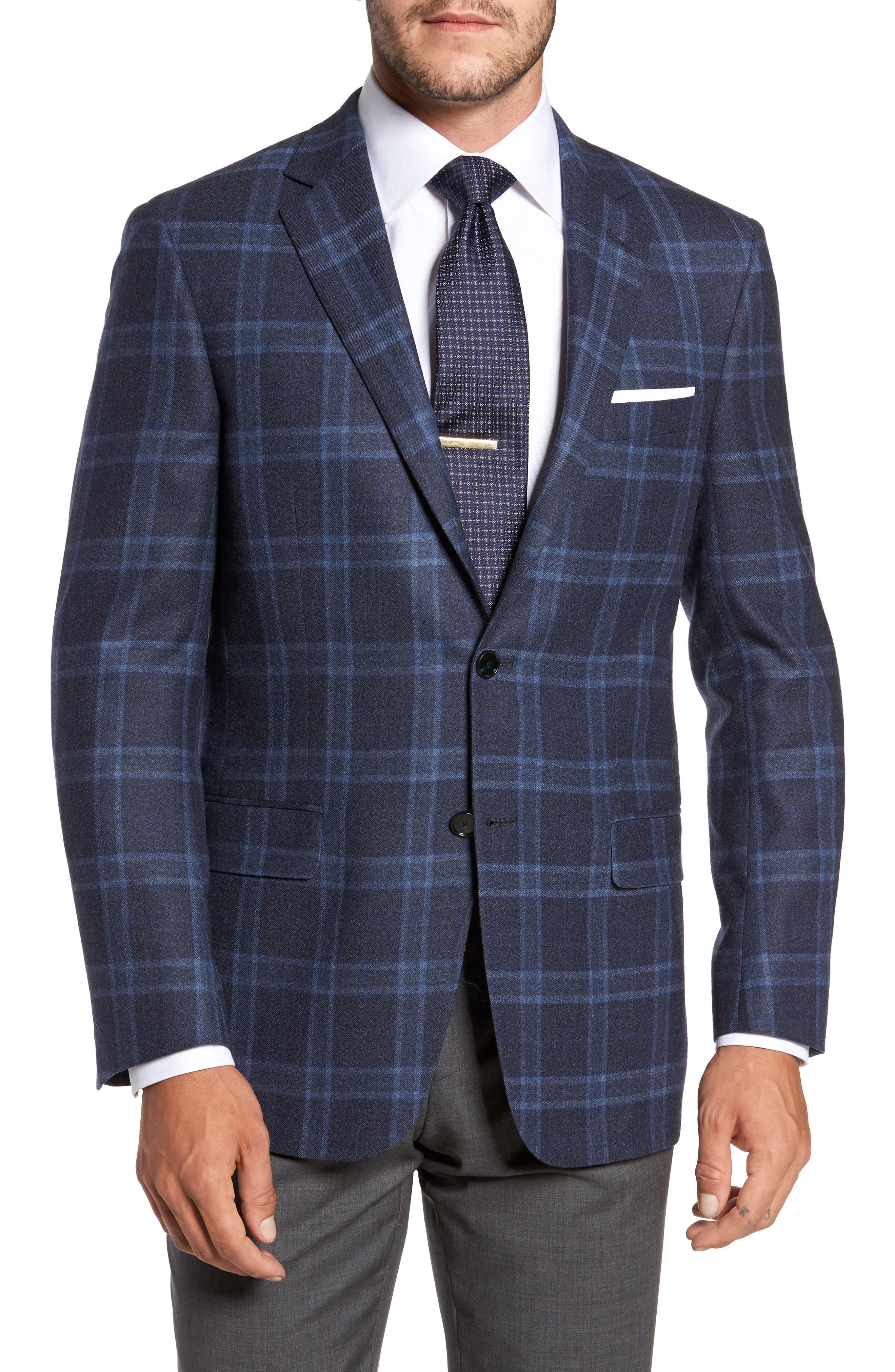 Main Image - Hart Schaffner Marx Classic Fit Plaid Wool Sport Coat