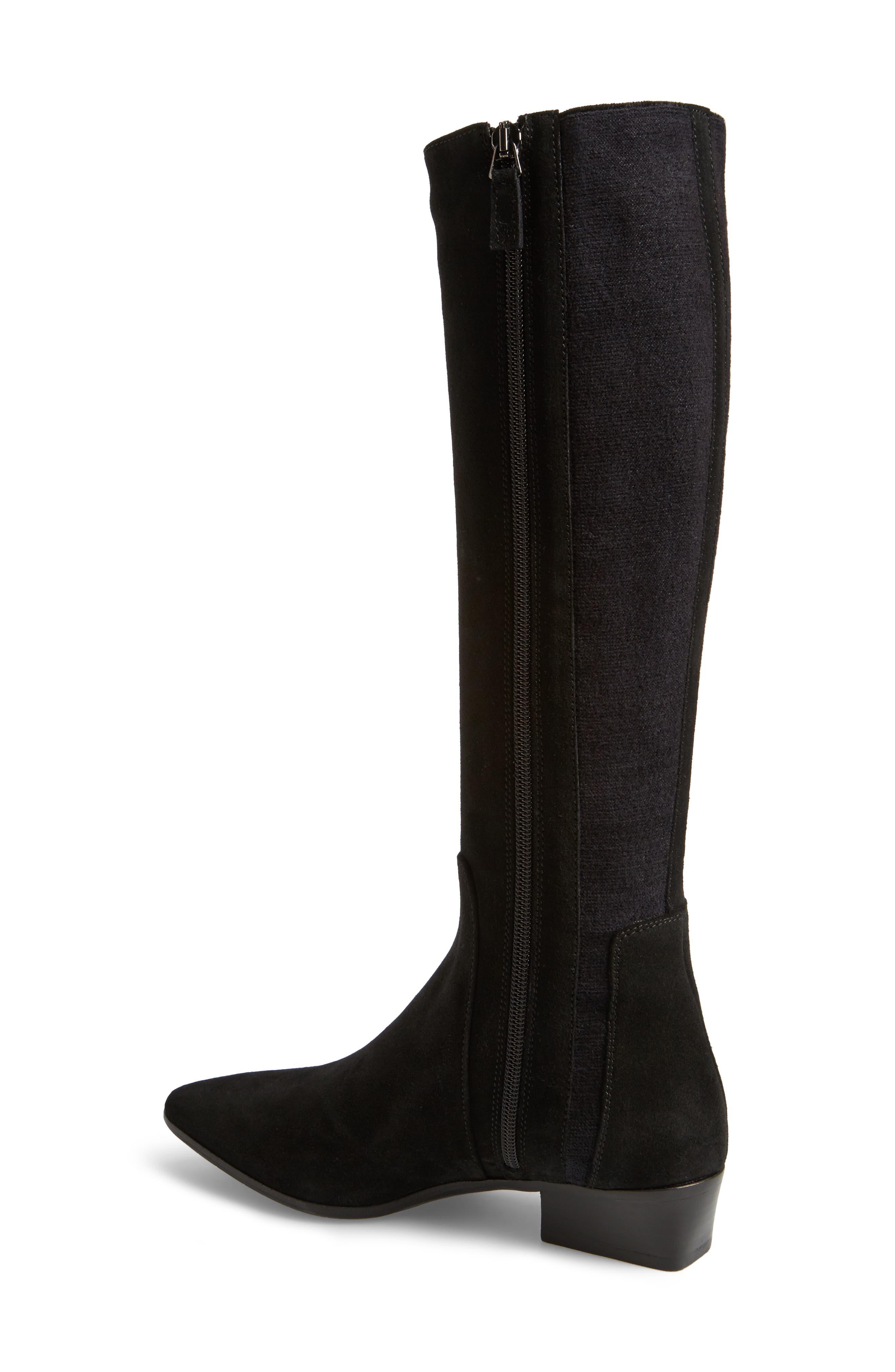 Federica Weatherproof Knee High Boot,                             Alternate thumbnail 2, color,                             Black Suede
