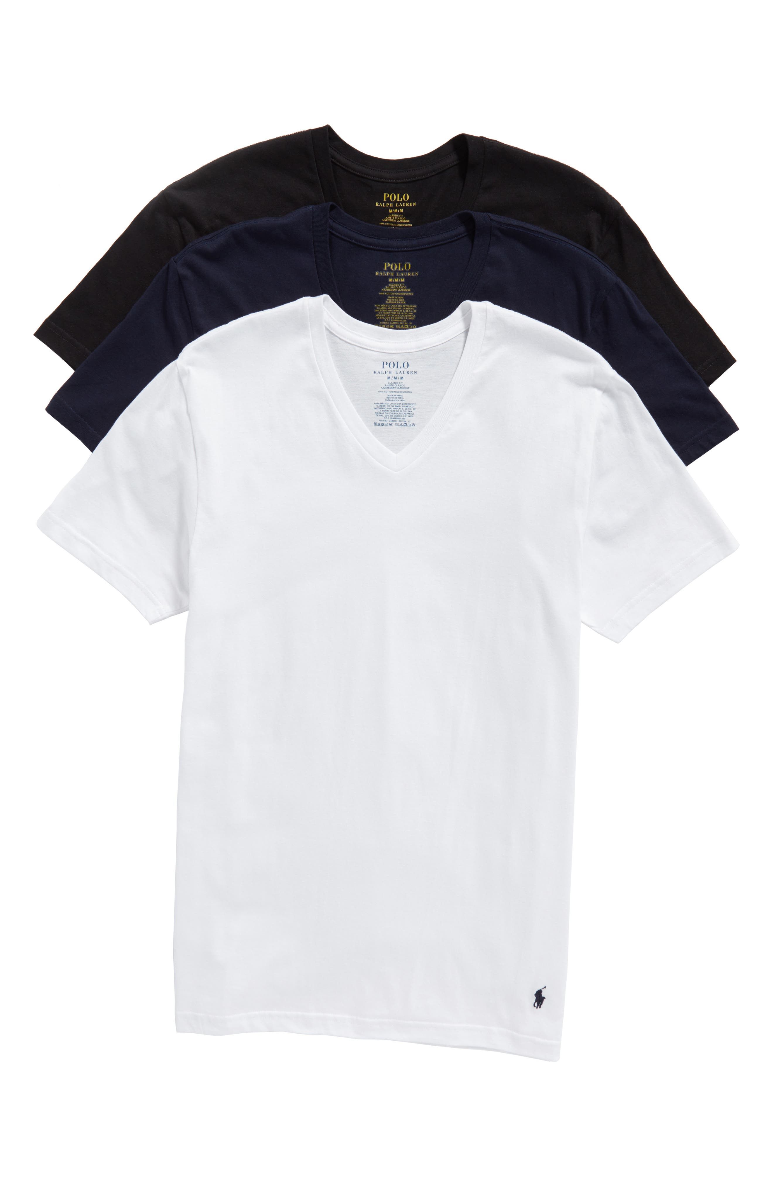 Alternate Image 1 Selected - Polo Ralph Lauren 3-Pack V-Neck T-Shirts