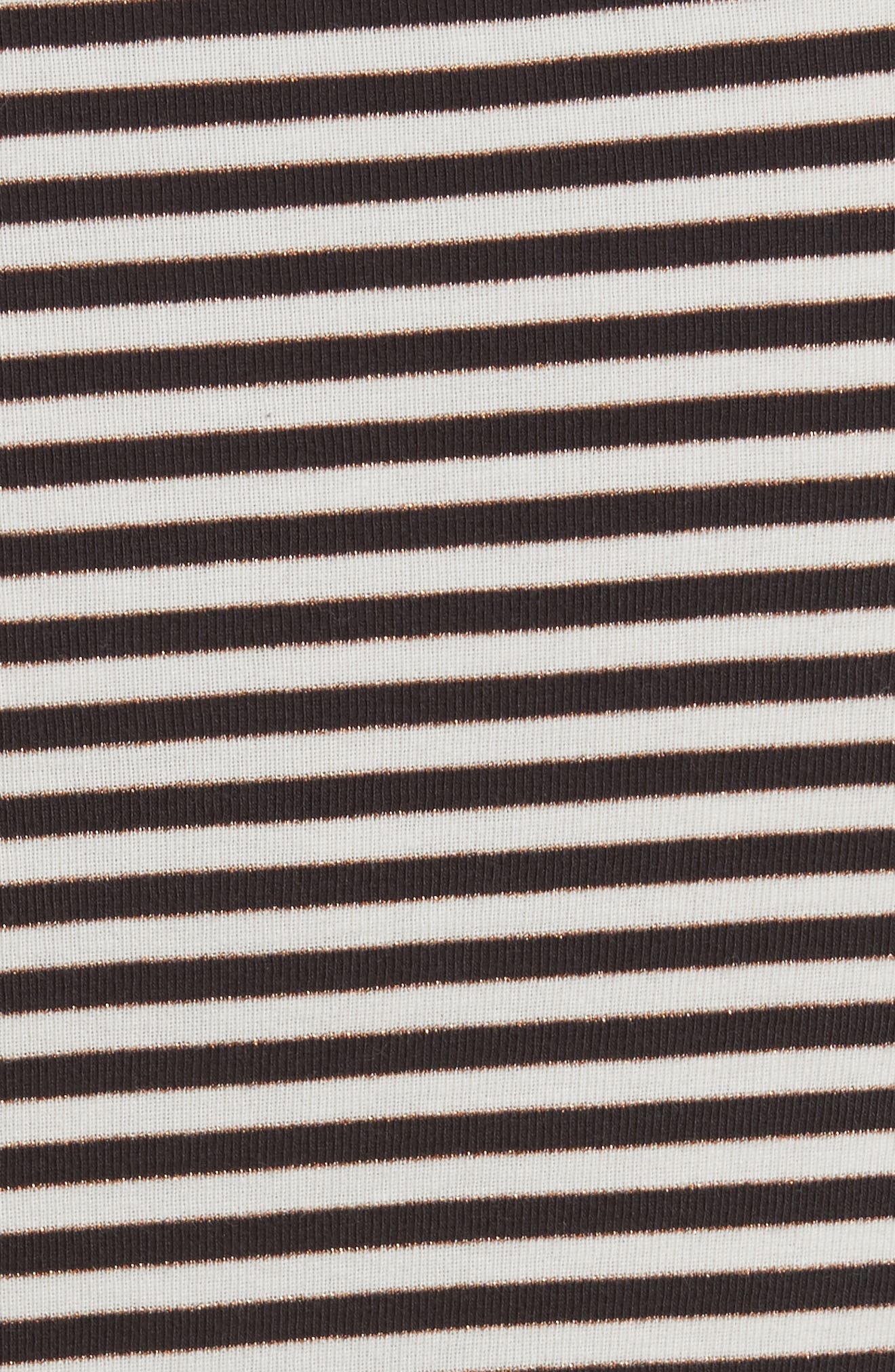 Alternate Image 6  - La Vie Rebecca Taylor Stripe Metallic Jersey Top