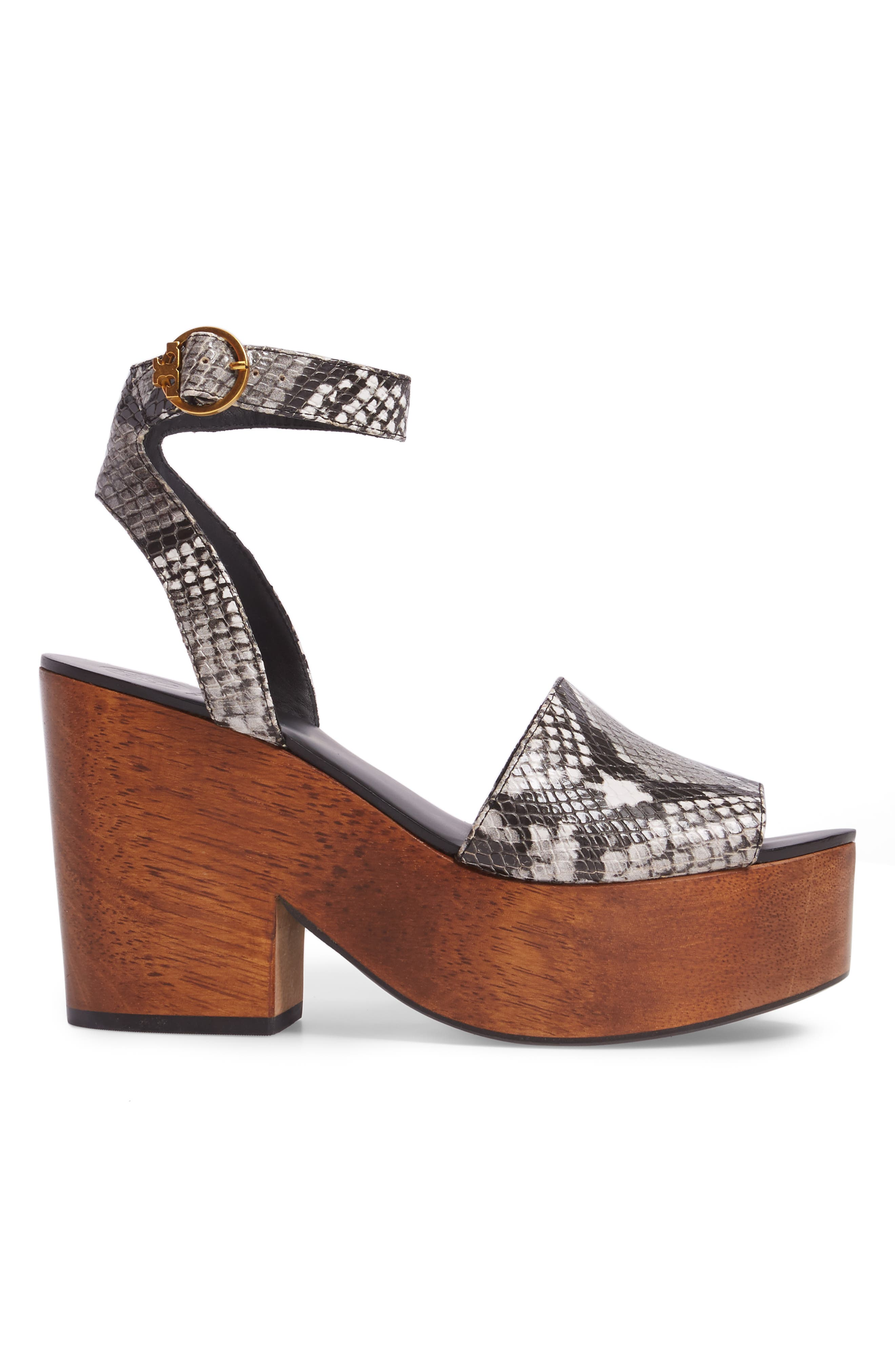 Camilla Platform Sandal,                             Alternate thumbnail 3, color,                             Roccia Black/ White
