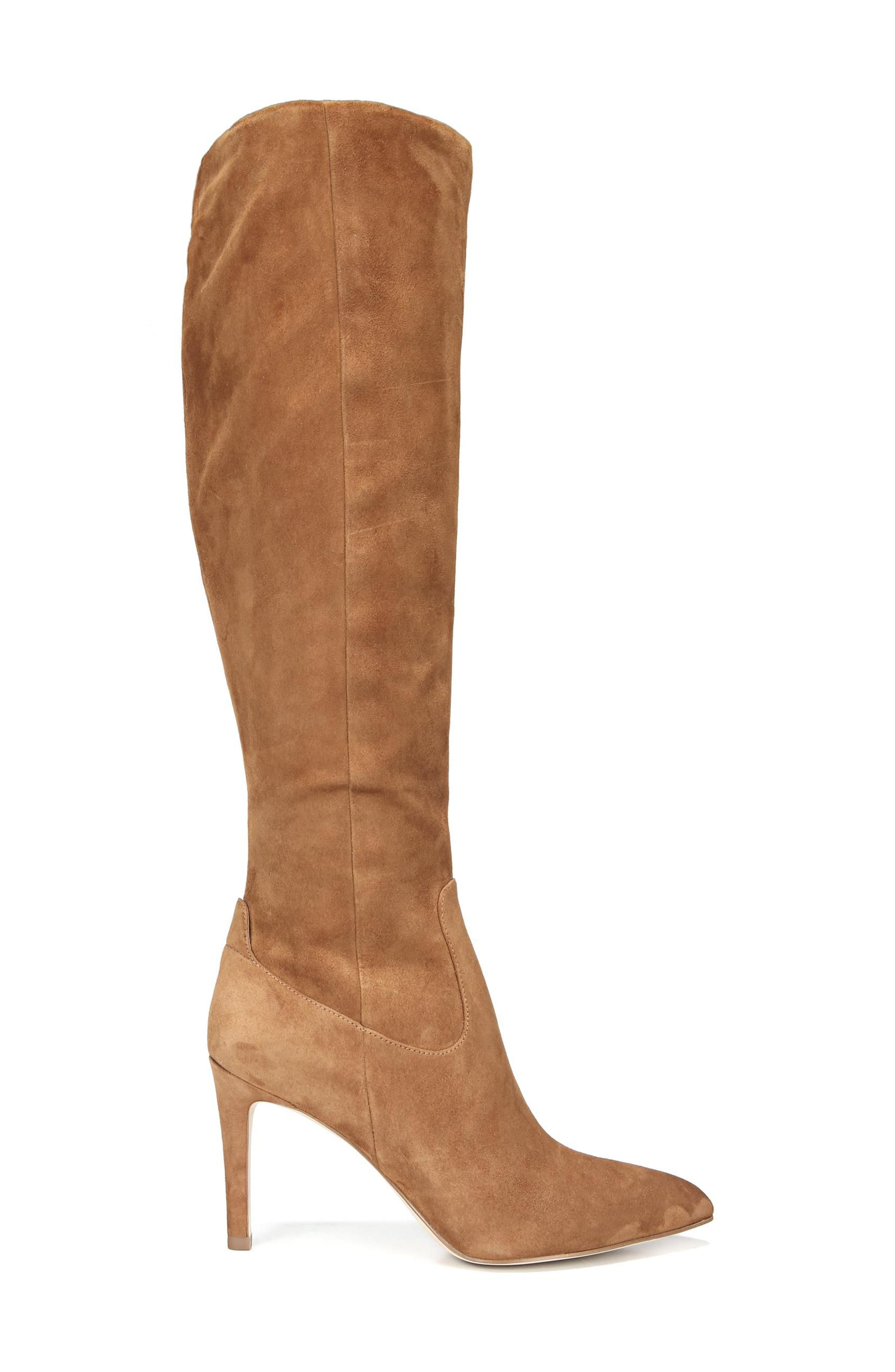 Olencia Knee High Boot,                             Alternate thumbnail 3, color,                             Luggage Suede